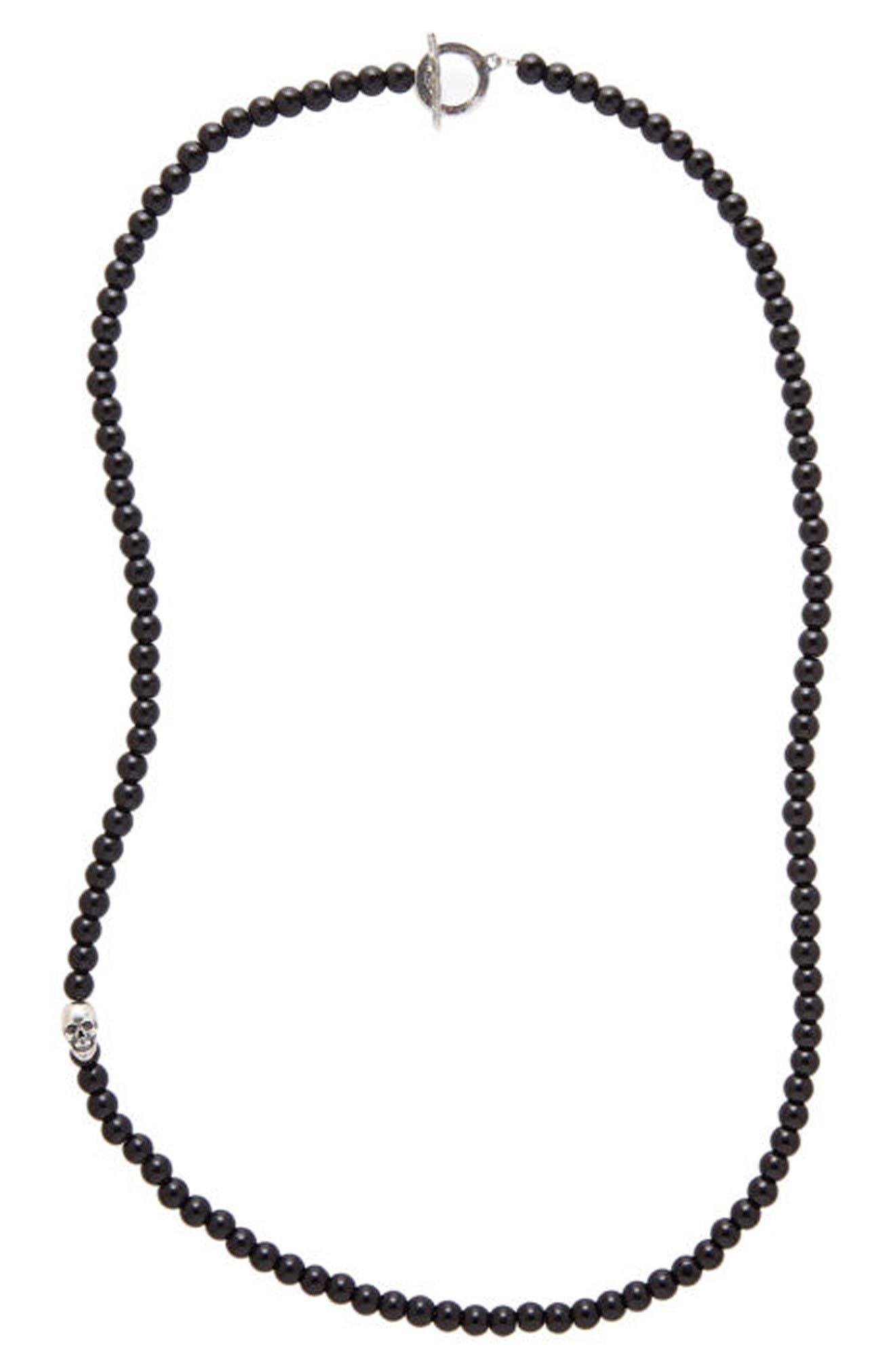 Main Image - Degs & Sal Onyx Bead Necklace