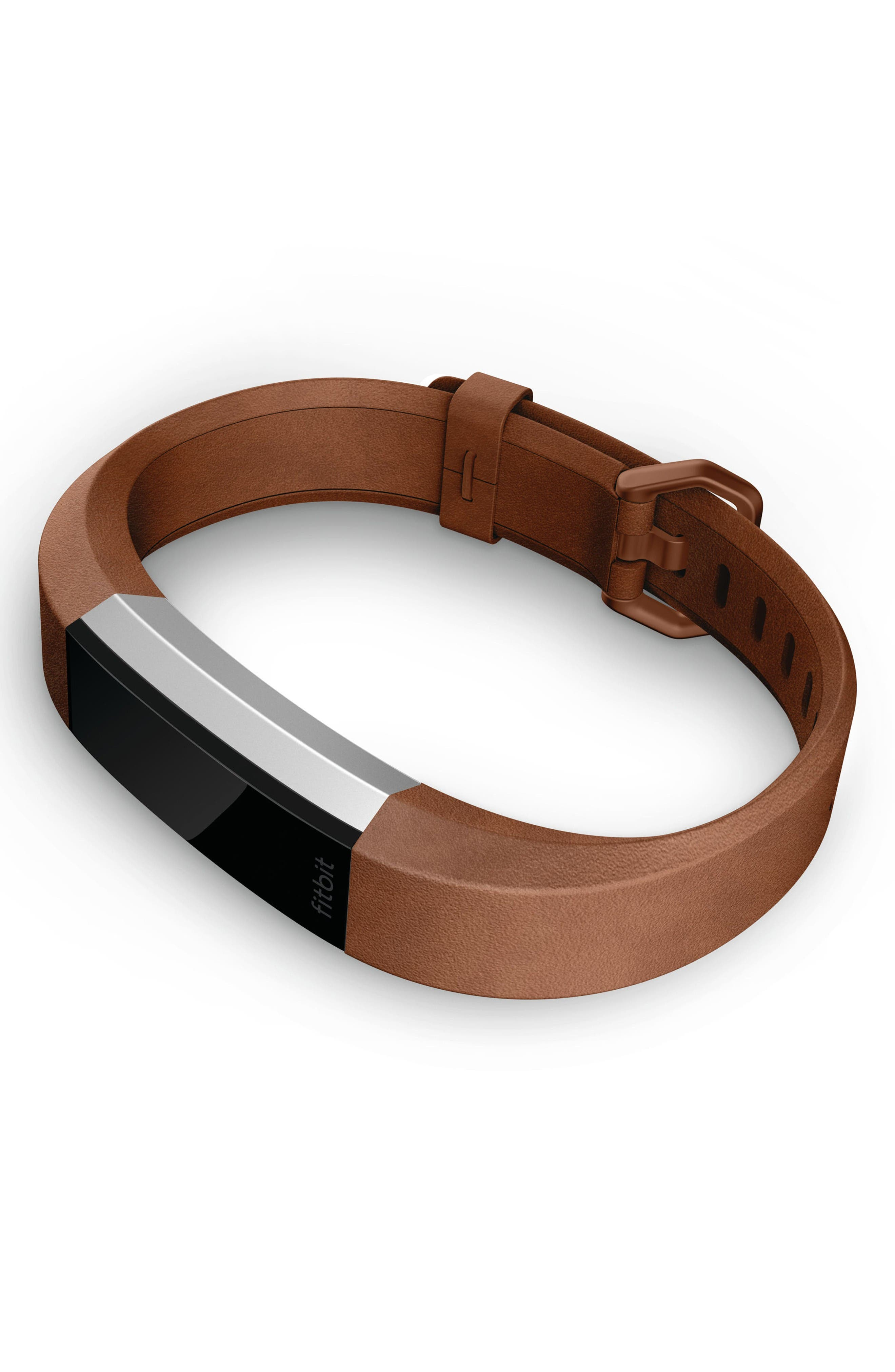 Alternate Image 3  - Fitbit Alta HR Leather Accessory Band