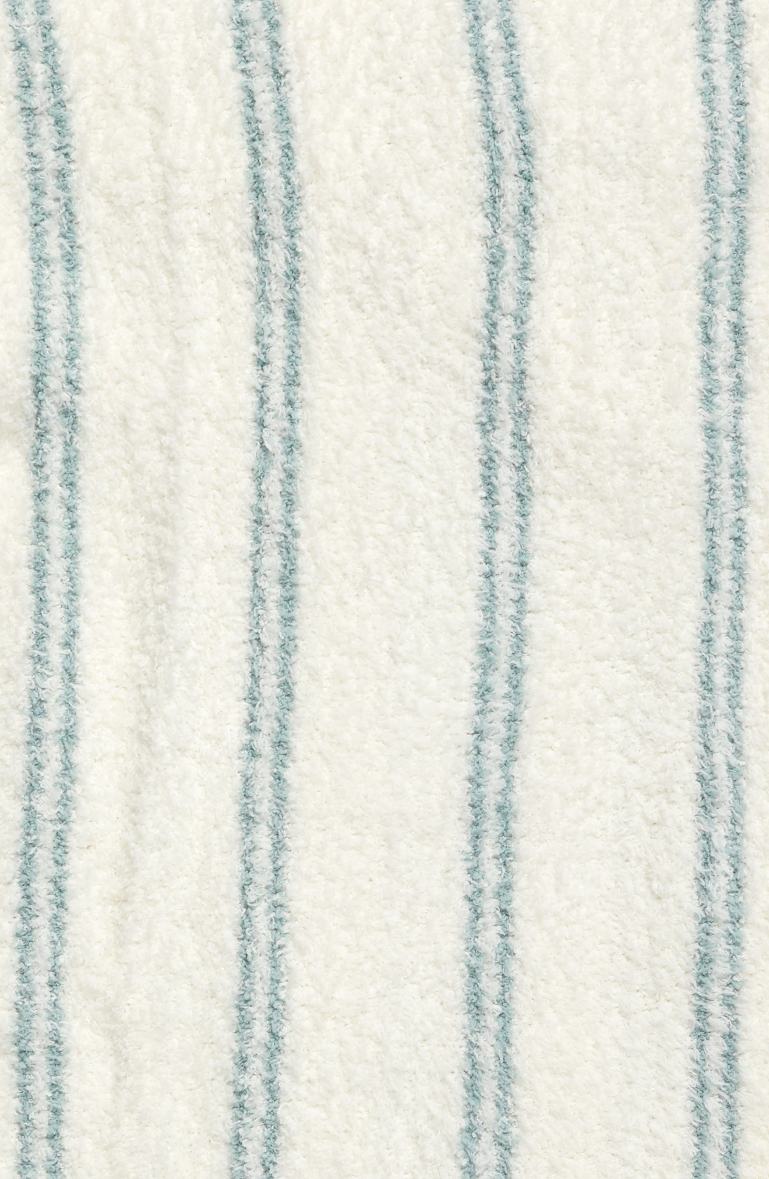 Cozychic<sup>®</sup> Vertical Stripe Throw Blanket,                             Alternate thumbnail 2, color,                             Pearl/ Blue Wave