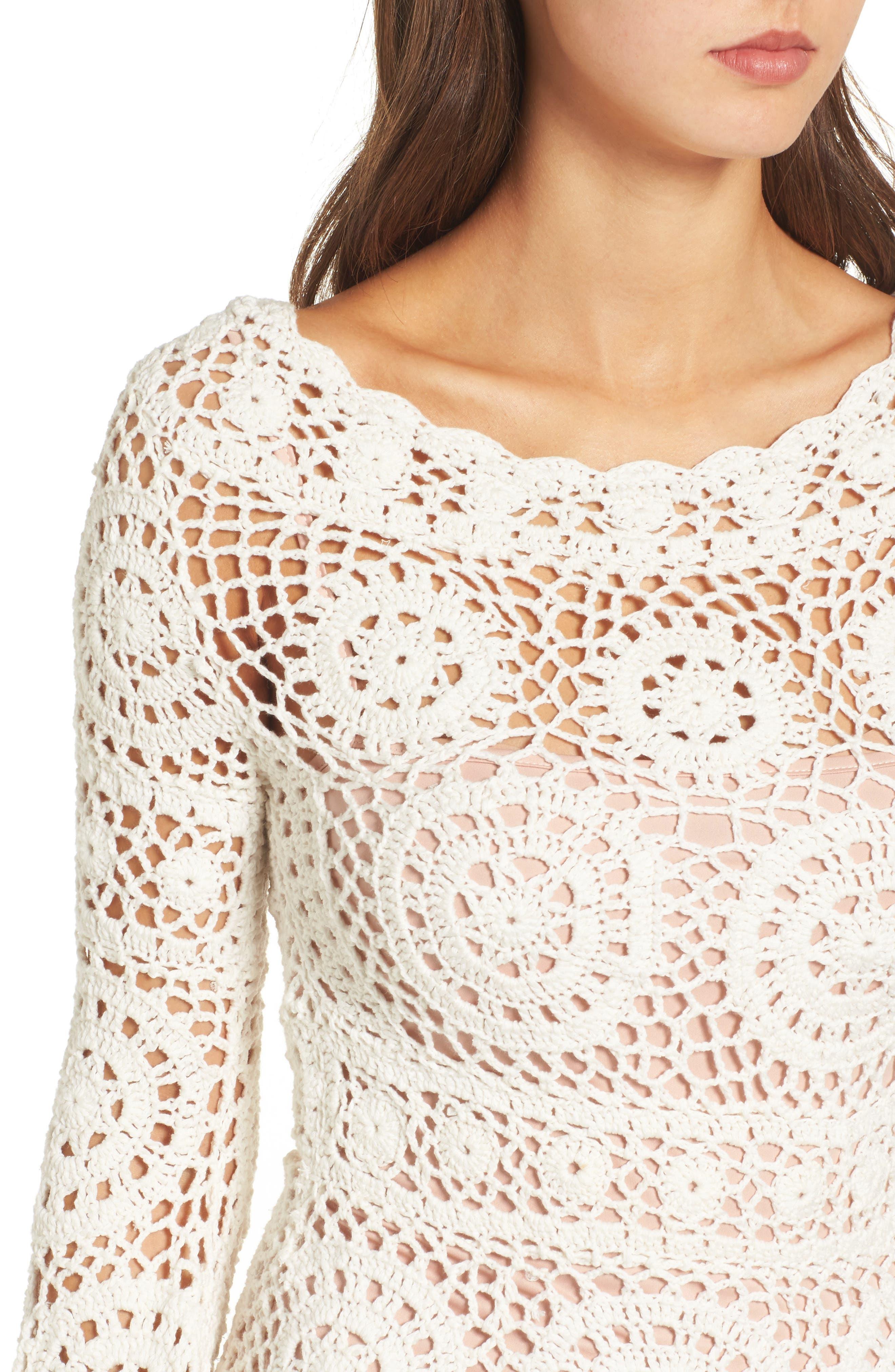 Alternate Image 4  - Majorelle Harvest Crochet Minidress