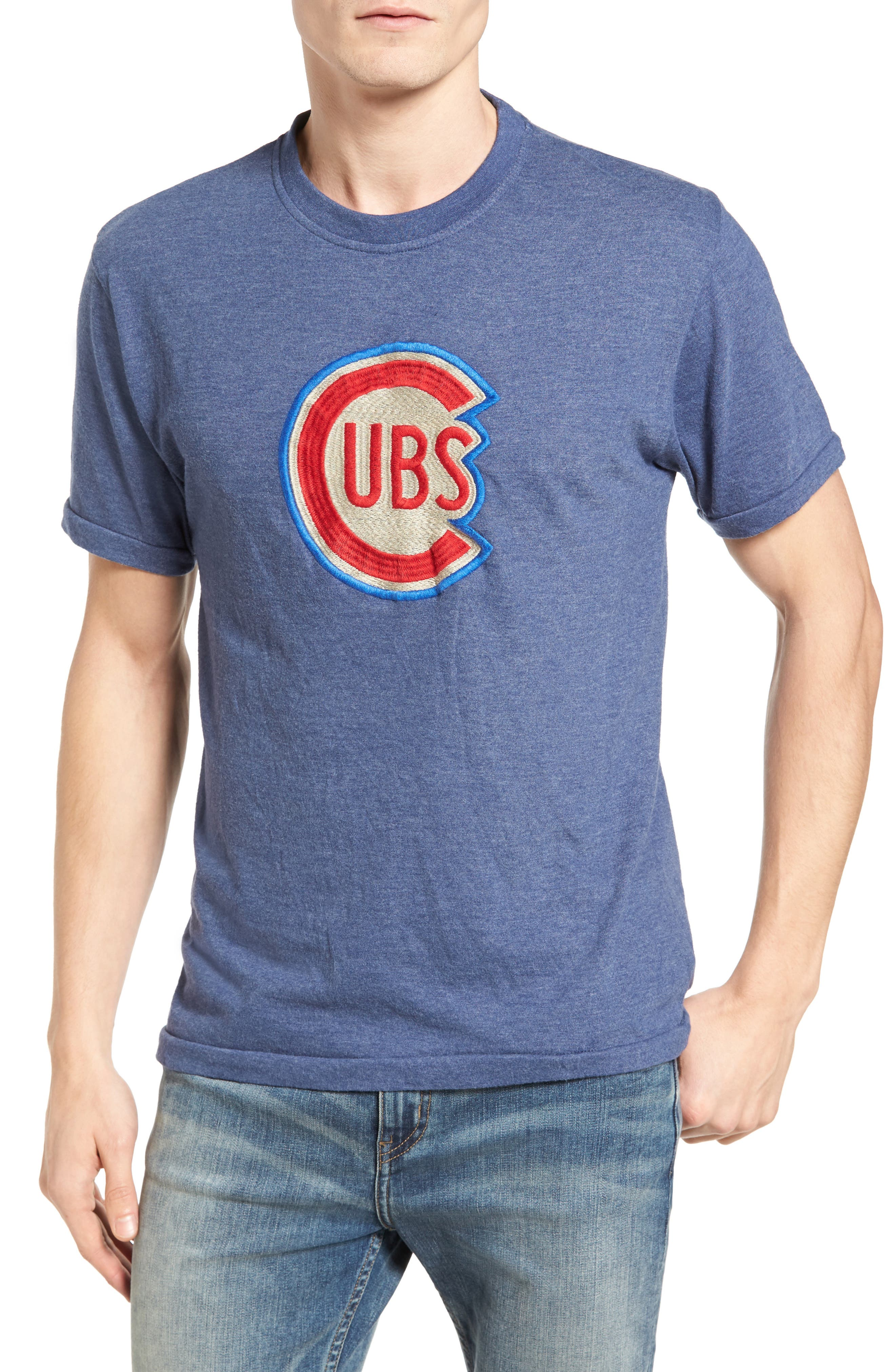 Hillwood Chicago Cubs T-Shirt,                         Main,                         color, Heather Navy