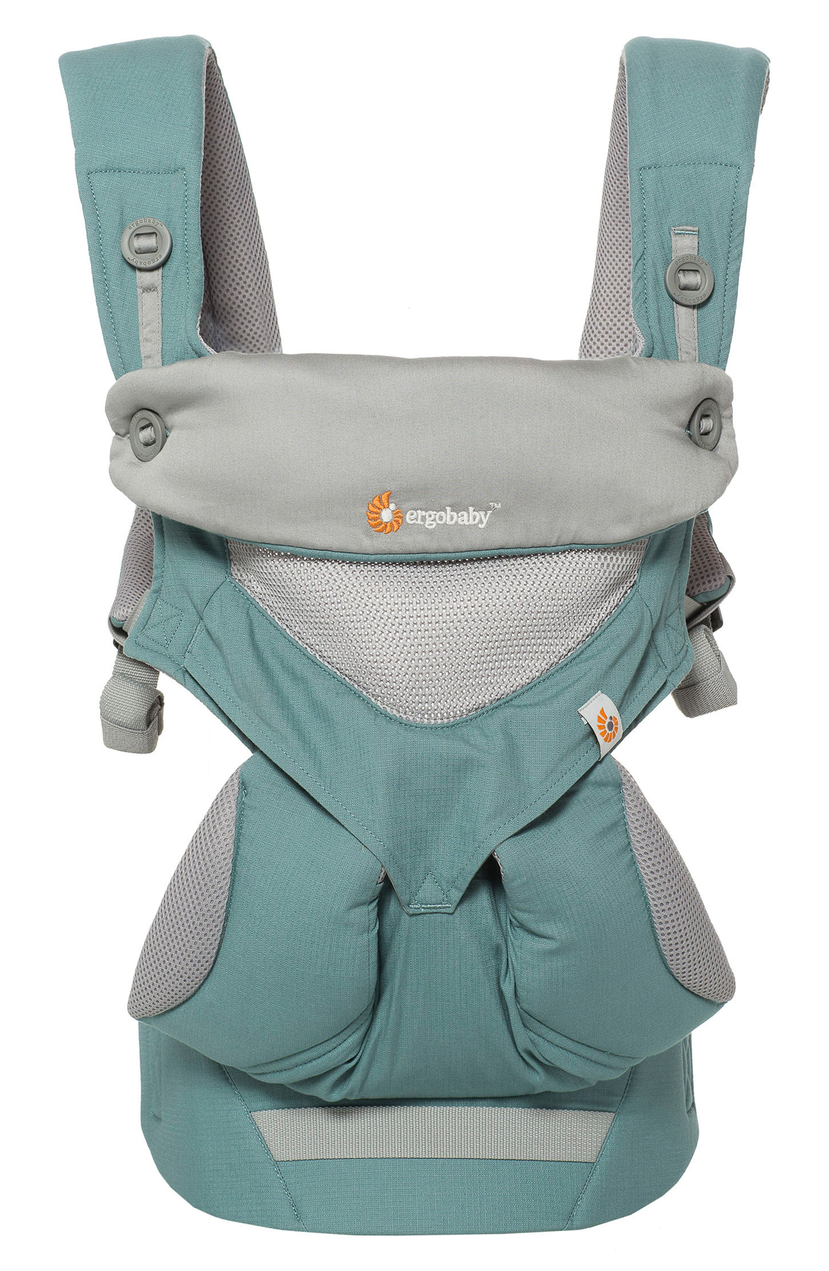 Four Position 360 - Cool Air Baby Carrier,                             Main thumbnail 1, color,                             Green/ Light Grey
