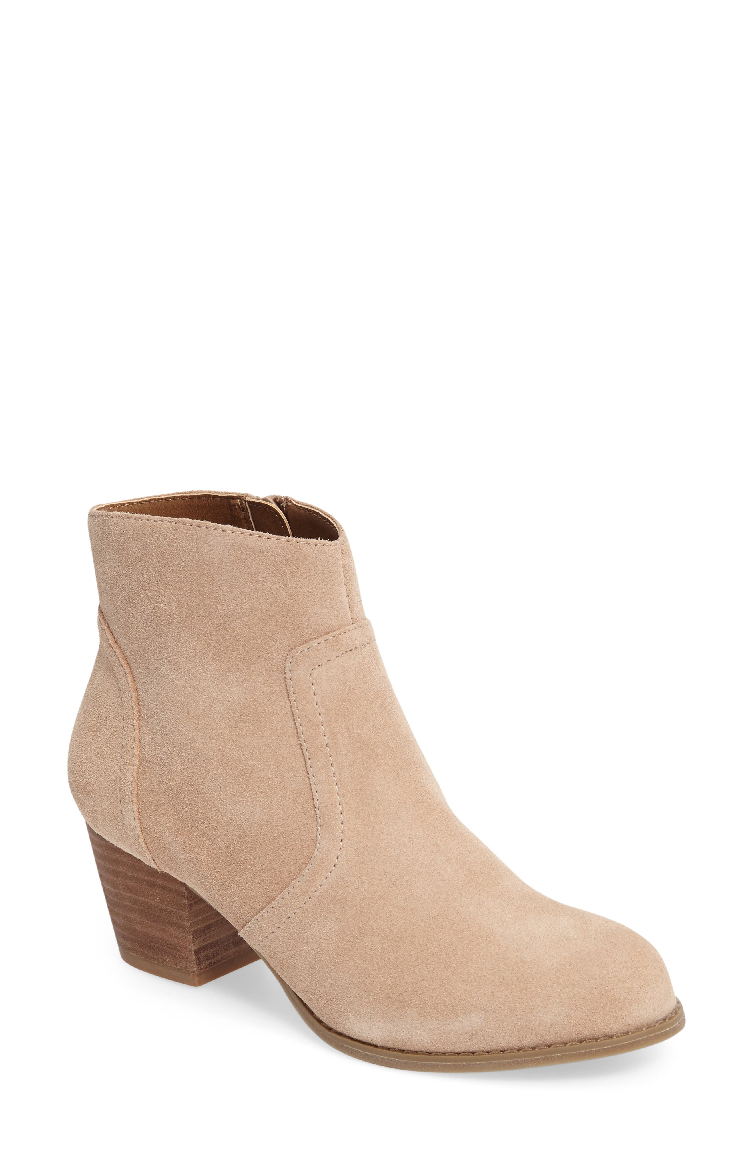 Romy Bootie,                         Main,                         color, Caramel