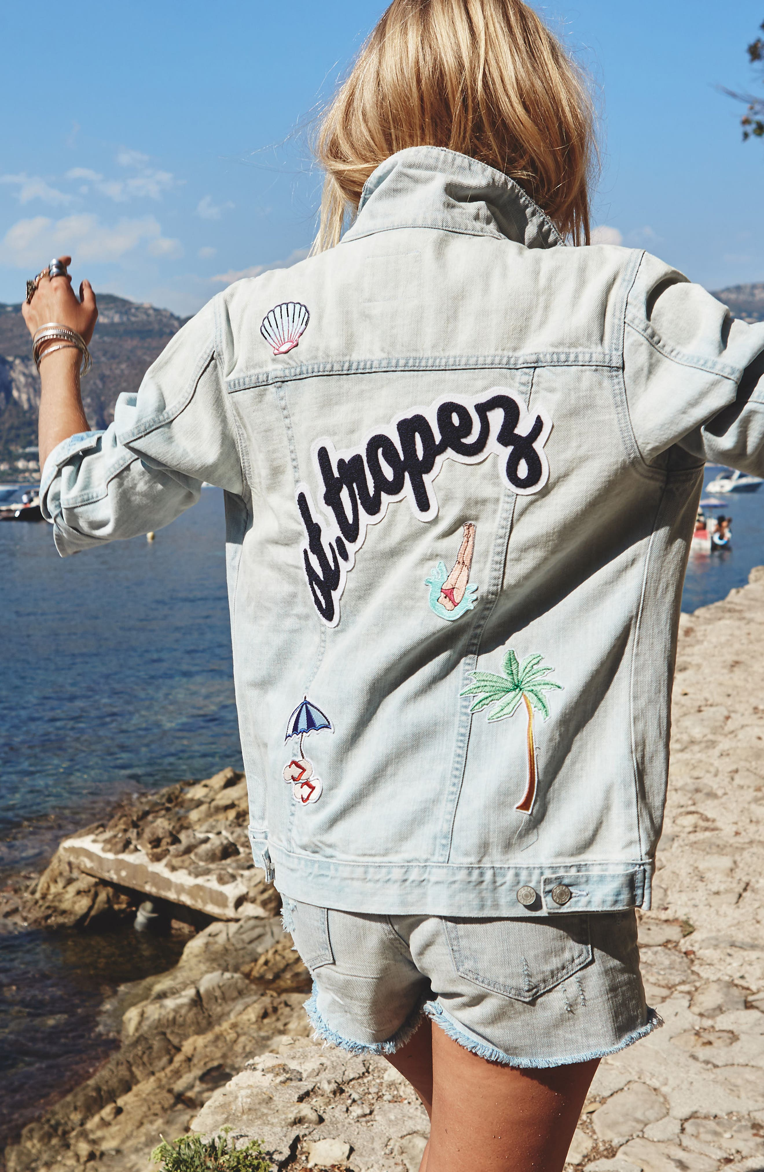 Alternate Image 2  - Rails Knox - St. Tropez Denim Jacket