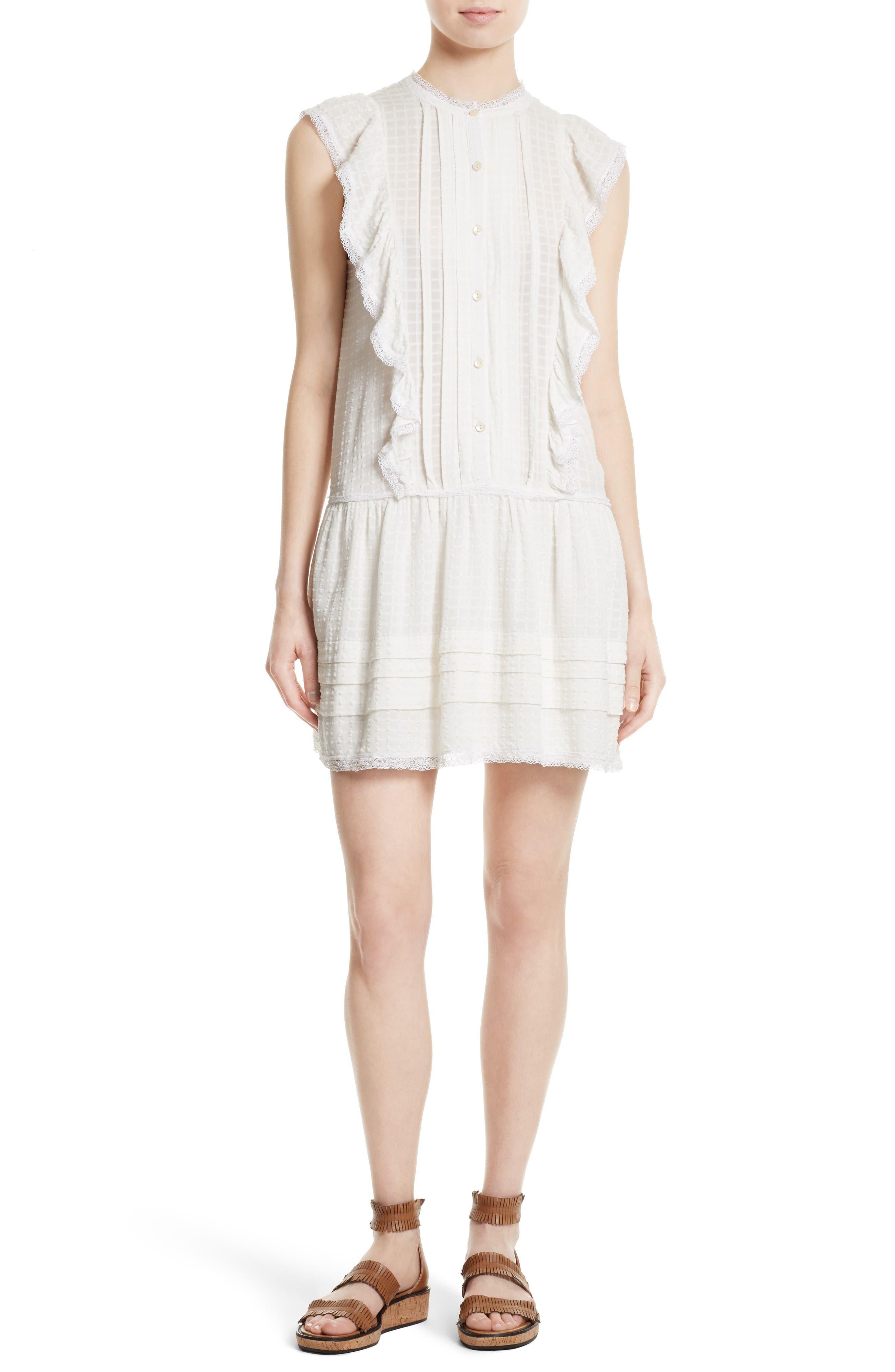 Main Image - La Vie Rebecca Taylor Draped Ruffle Dress