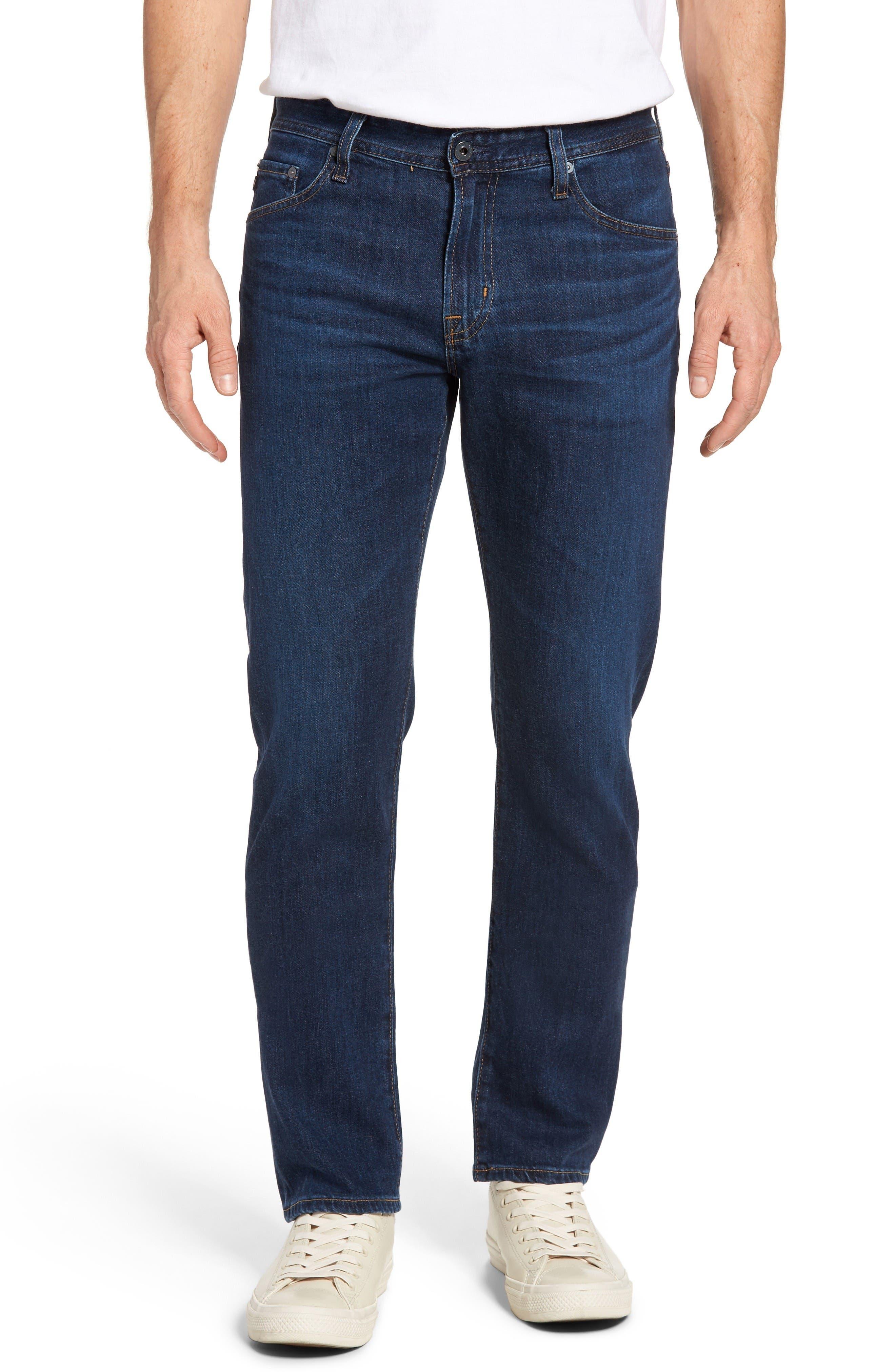 Main Image - AG Graduate Slim Straight Leg Jeans (Courts)