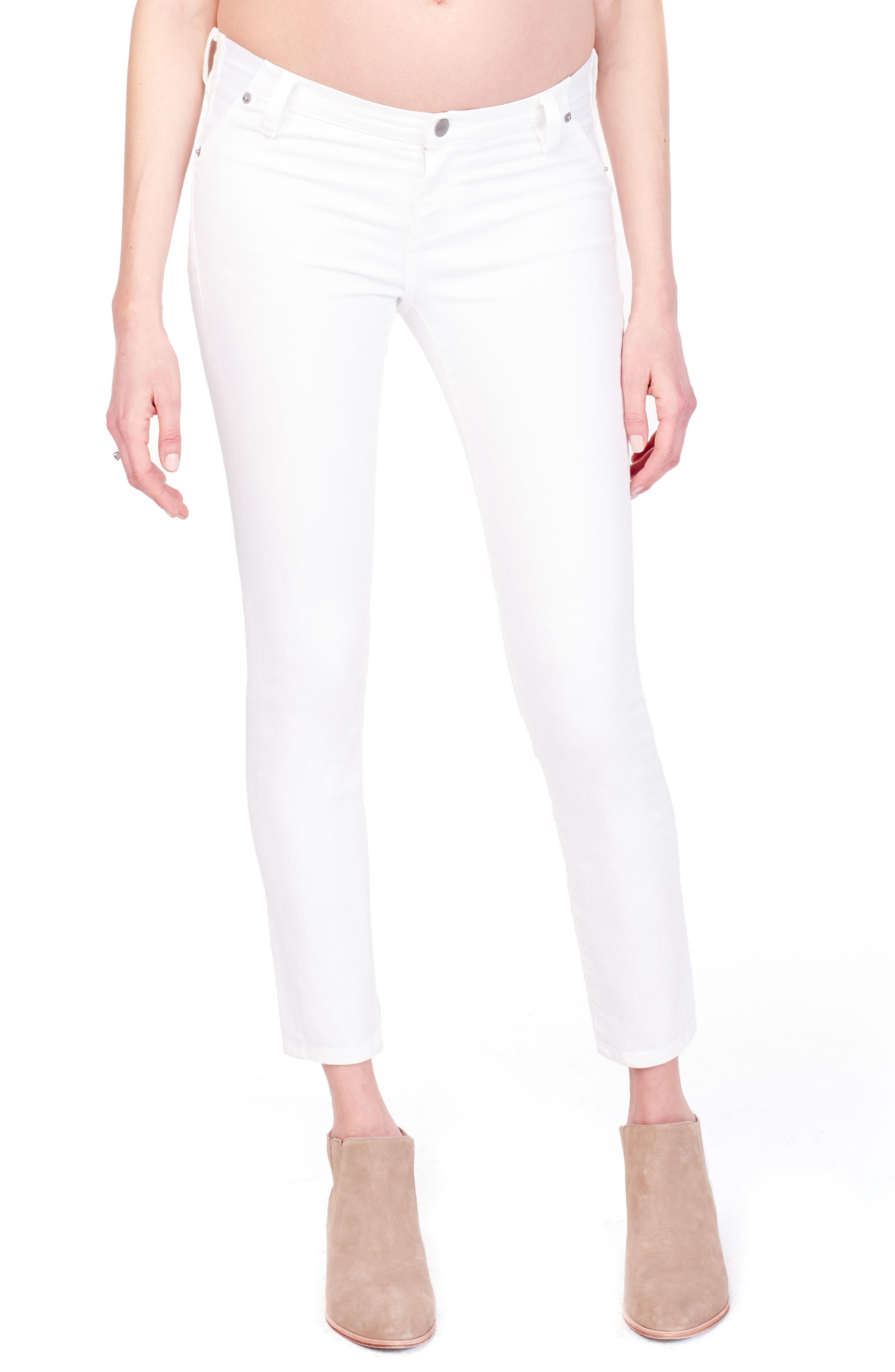 Sasha Maternity Skinny Jeans,                             Main thumbnail 1, color,                             White