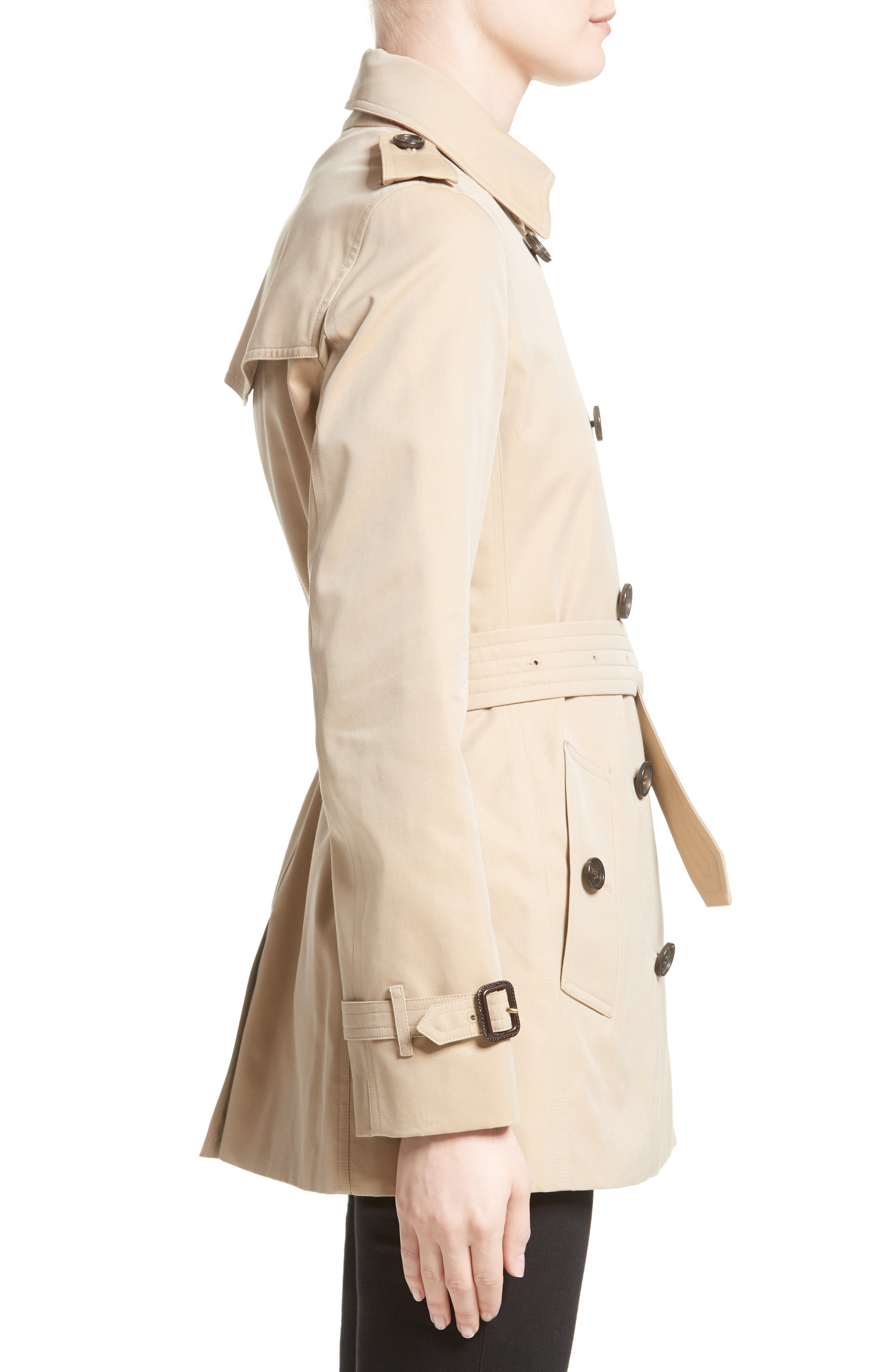 Alternate Image 5  - Burberry Kensington Short Trench Coat