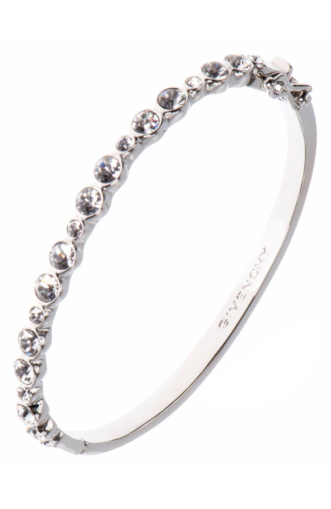 Small Crystal Bracelet,                             Main thumbnail 1, color,                             Silver