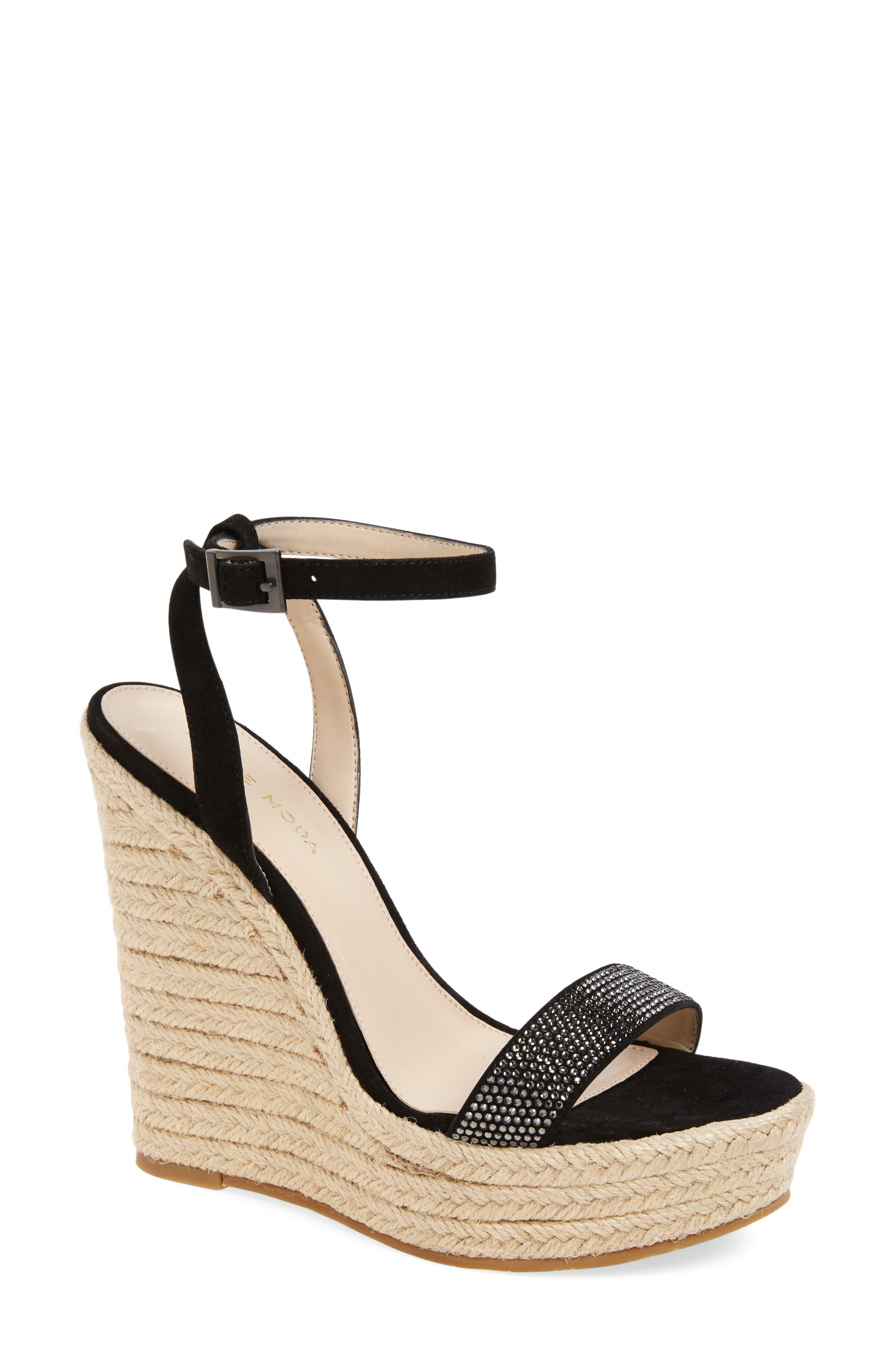 Pelle Moda Only Embellished Platform Wedge (Women)