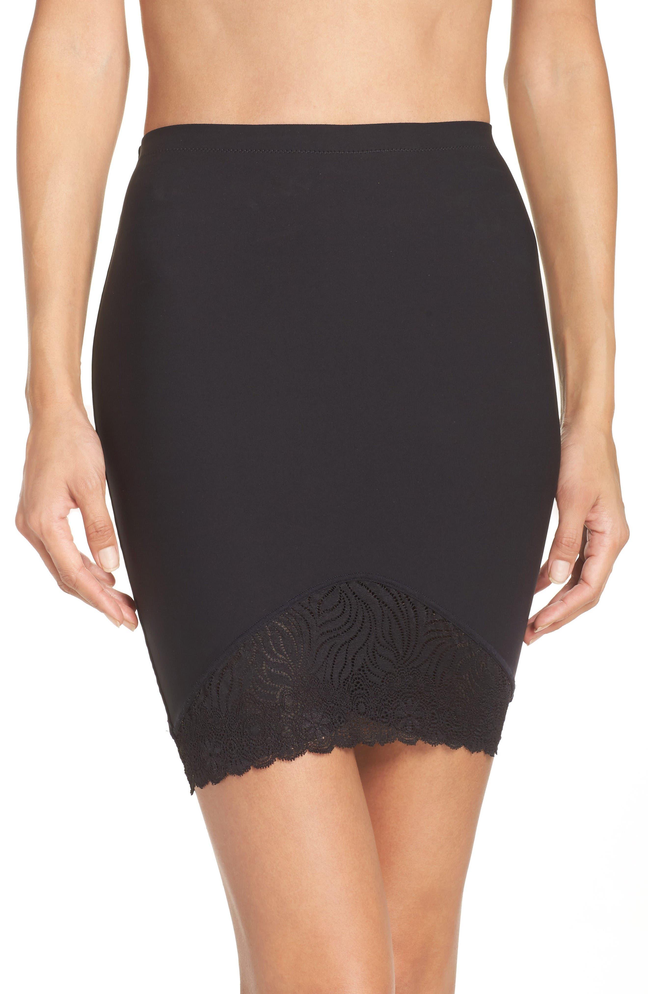 Top Model High Waist Skirt Shaper,                             Main thumbnail 1, color,                             Black