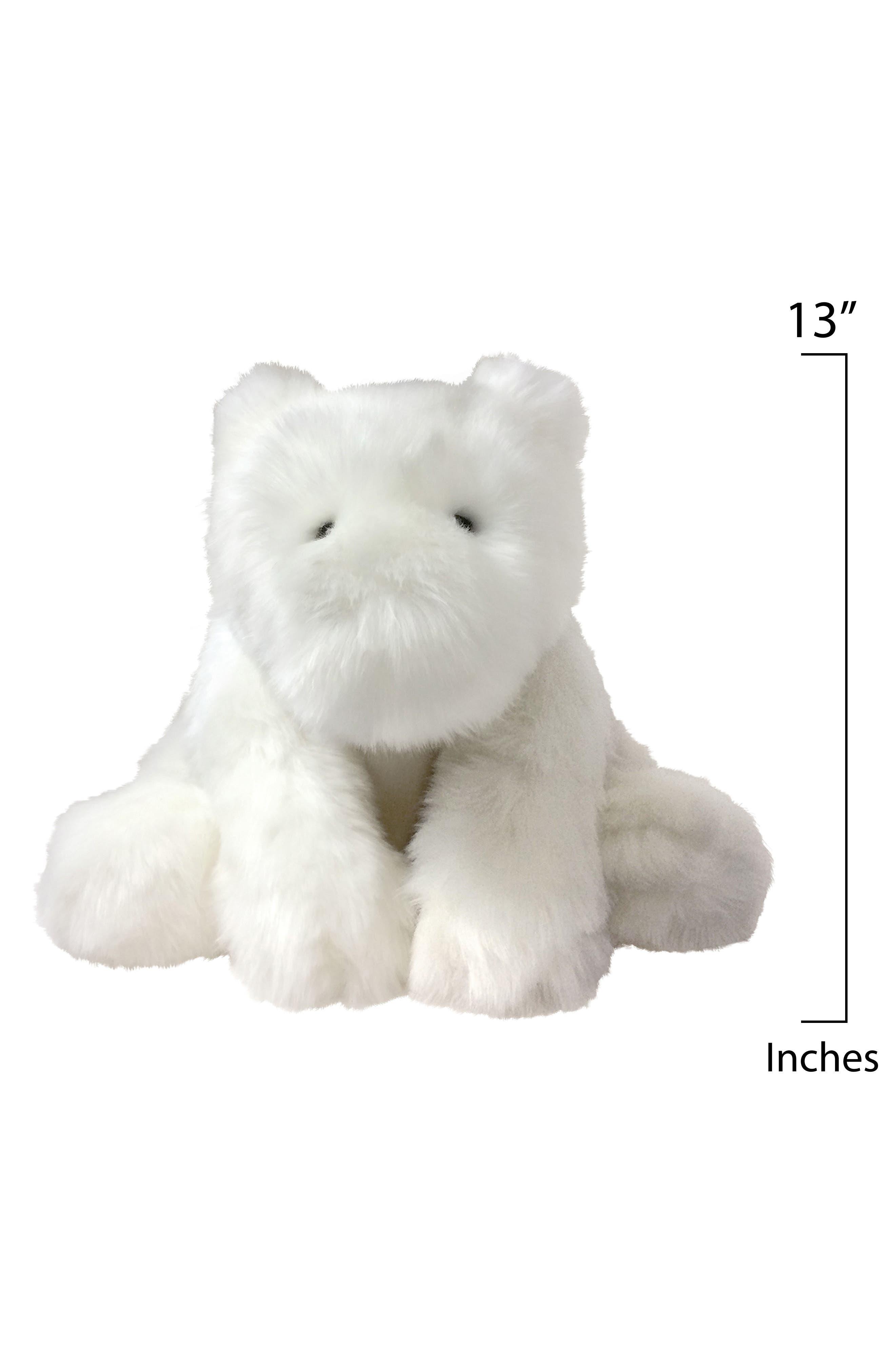 Luxe Ivy Bear Stuffed Animal,                             Alternate thumbnail 2, color,                             White