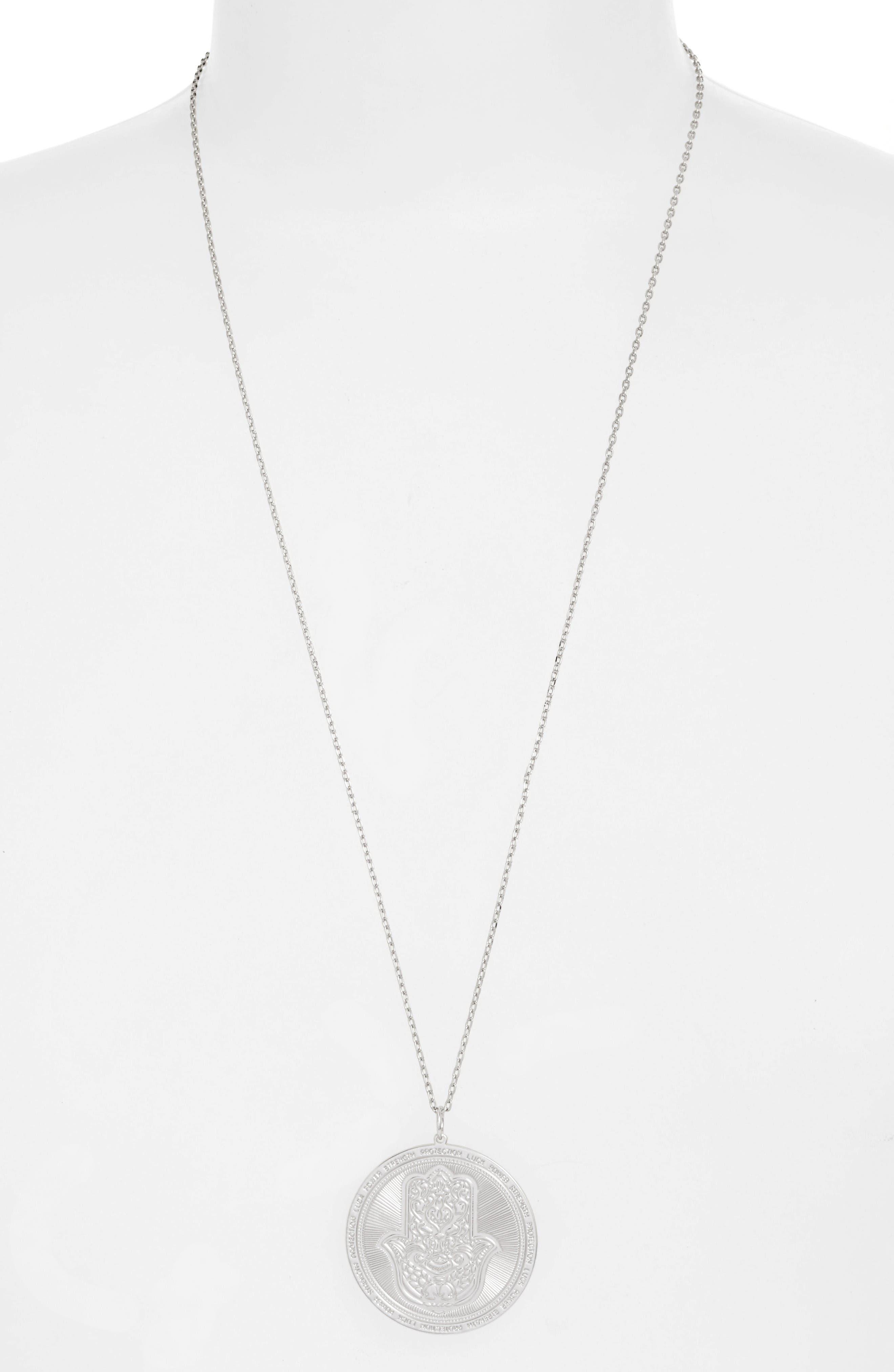 Alternate Image 3  - lulu dk Hamsa Love Letters Pendant Necklace