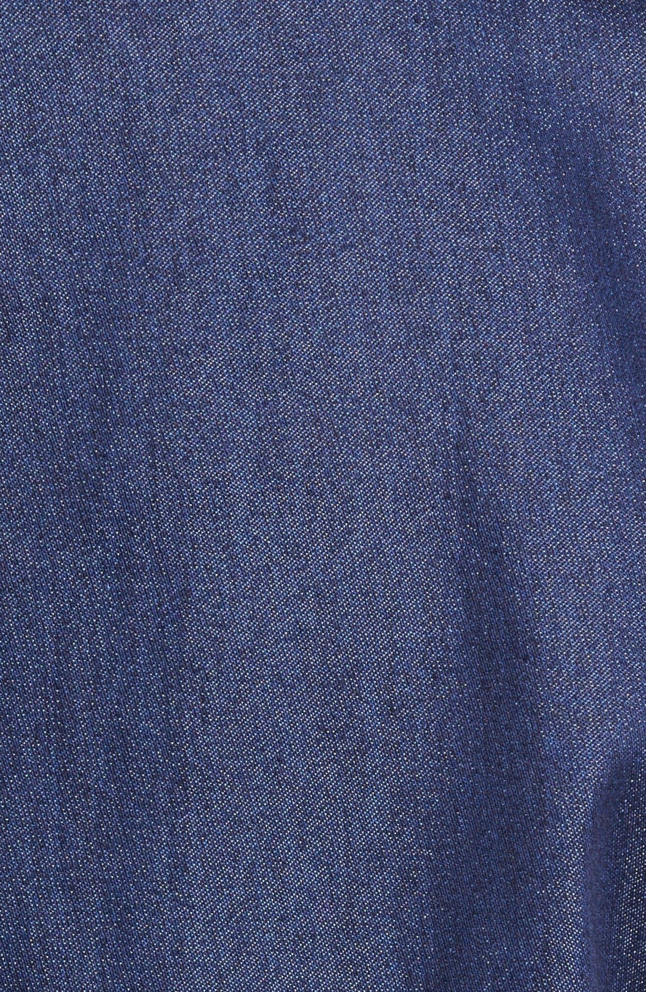 Lifting the Sea Woven Shirt,                             Alternate thumbnail 5, color,                             Navy