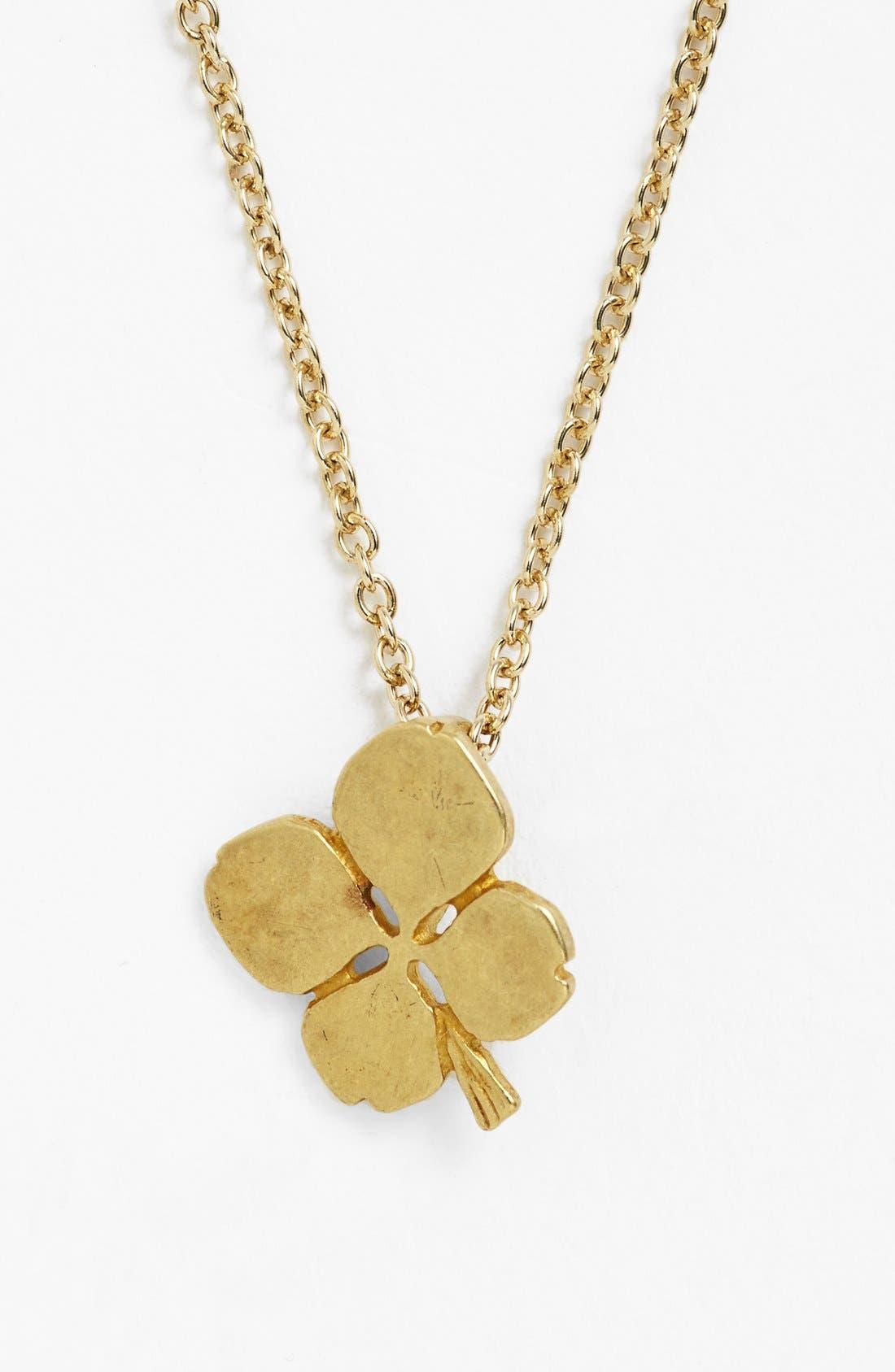Alternate Image 3  - Dogeared 'Luck' Clover Pendant Necklace