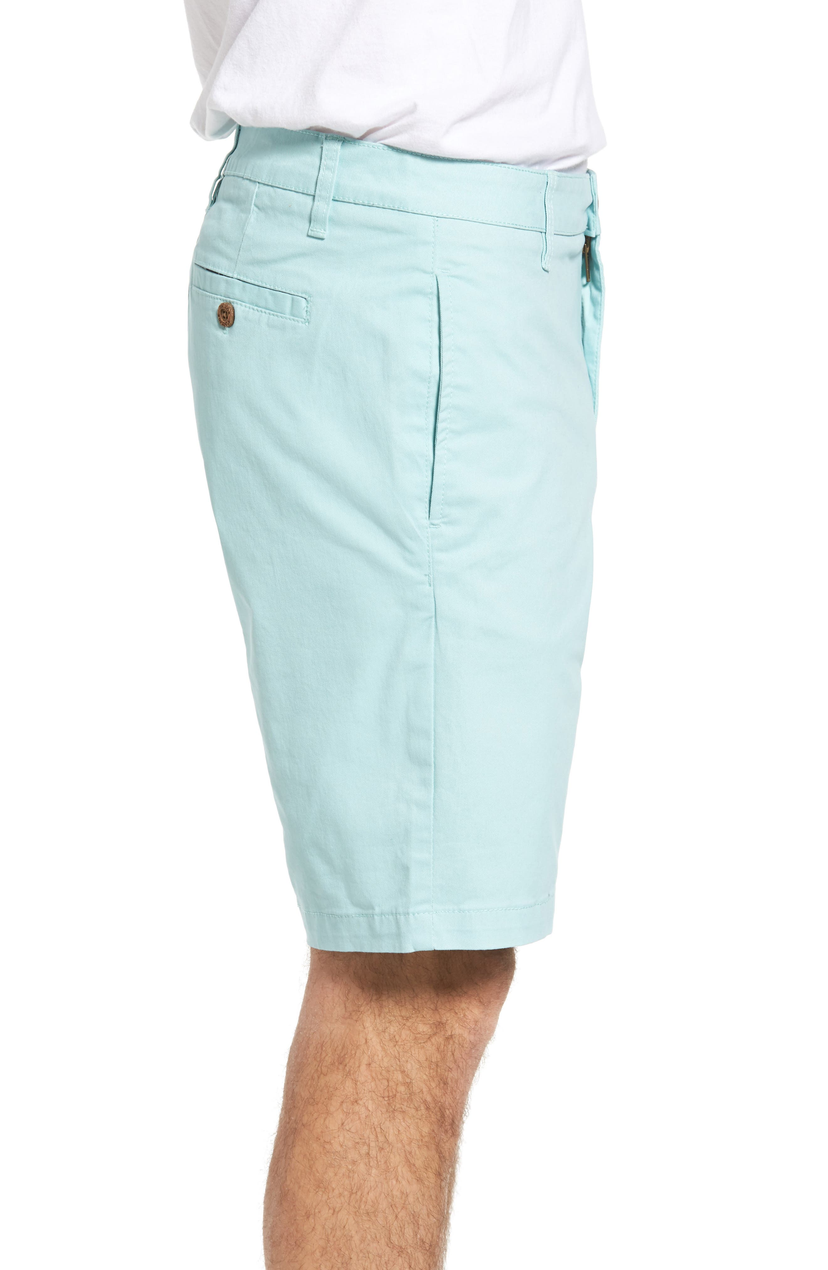 Stretch Twill Walking Shorts,                             Alternate thumbnail 3, color,                             Canal Blue