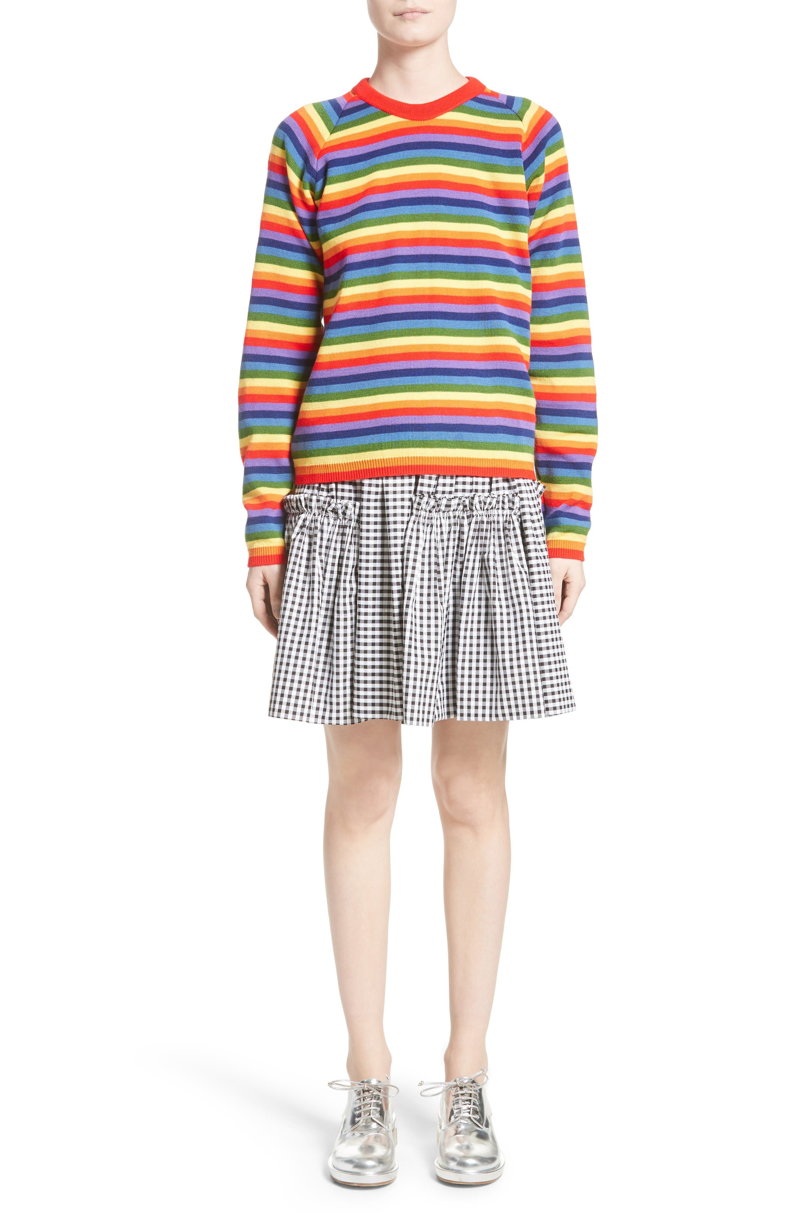 Charlie Rainbow Sweater,                             Alternate thumbnail 7, color,                             Rainbow