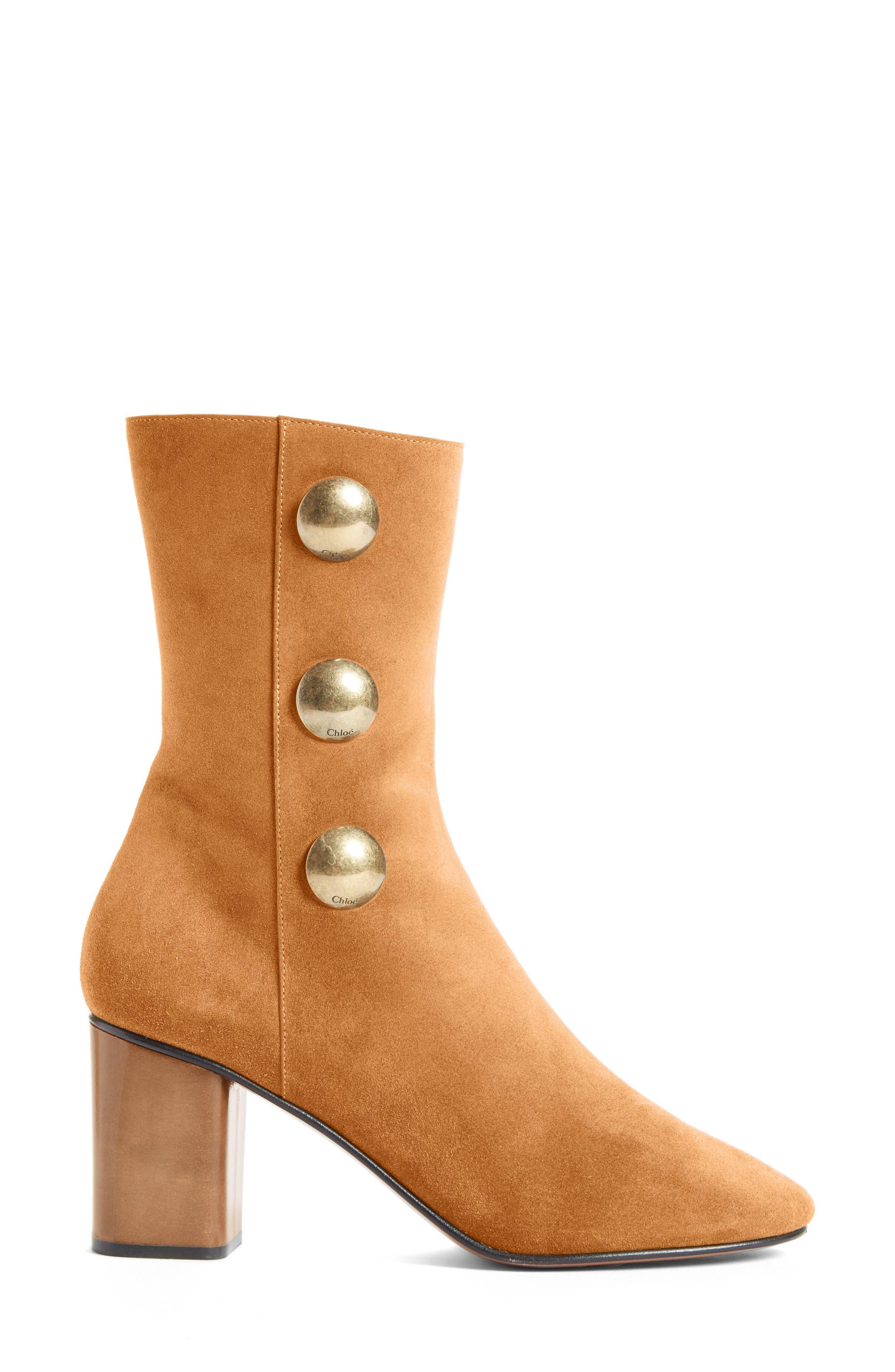 Alternate Image 3  - Chloé Orlando Short Button Boot (Women)