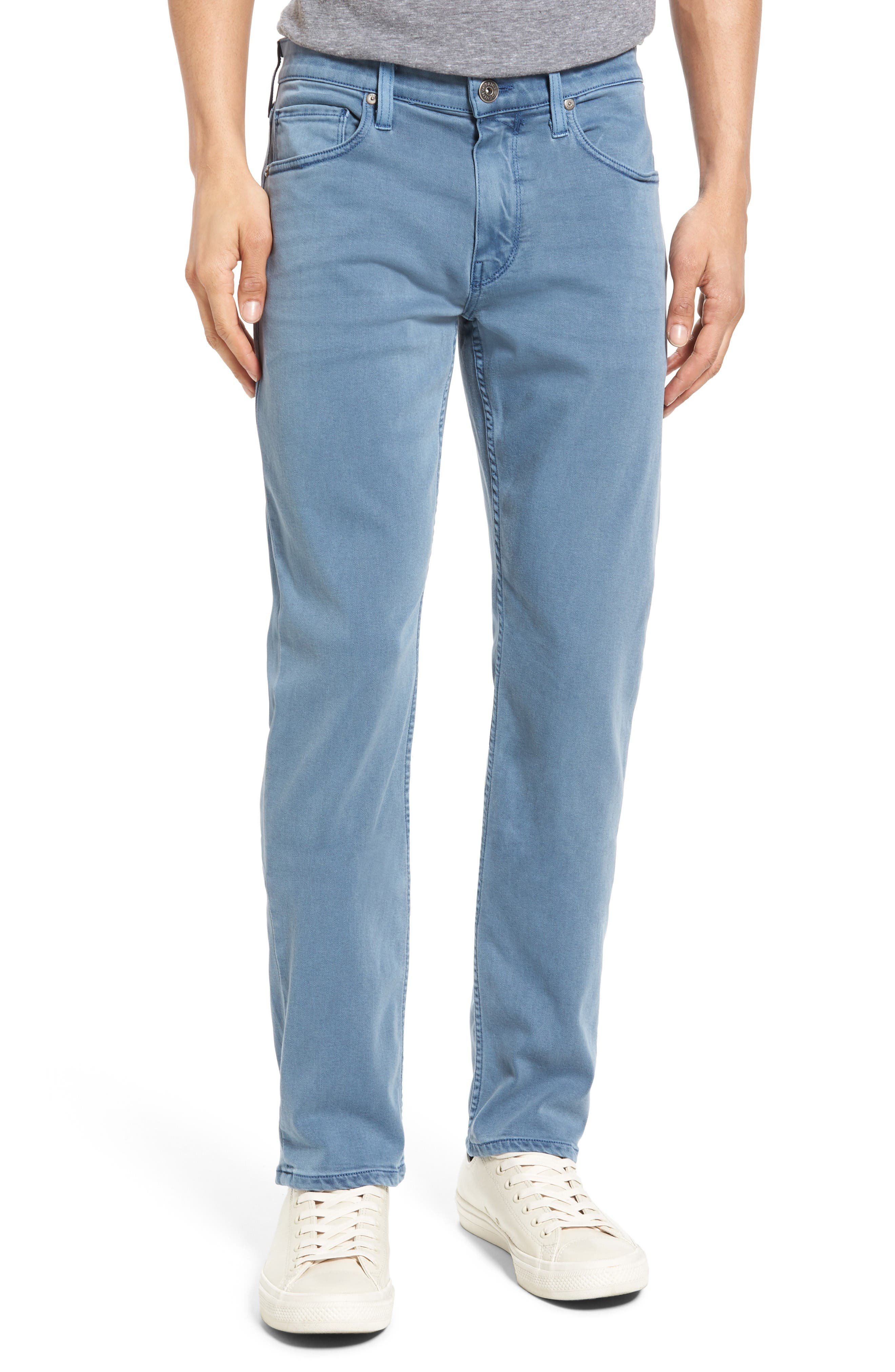 Transcend - Lennox Slim Fit Jeans,                             Main thumbnail 1, color,                             Seascape