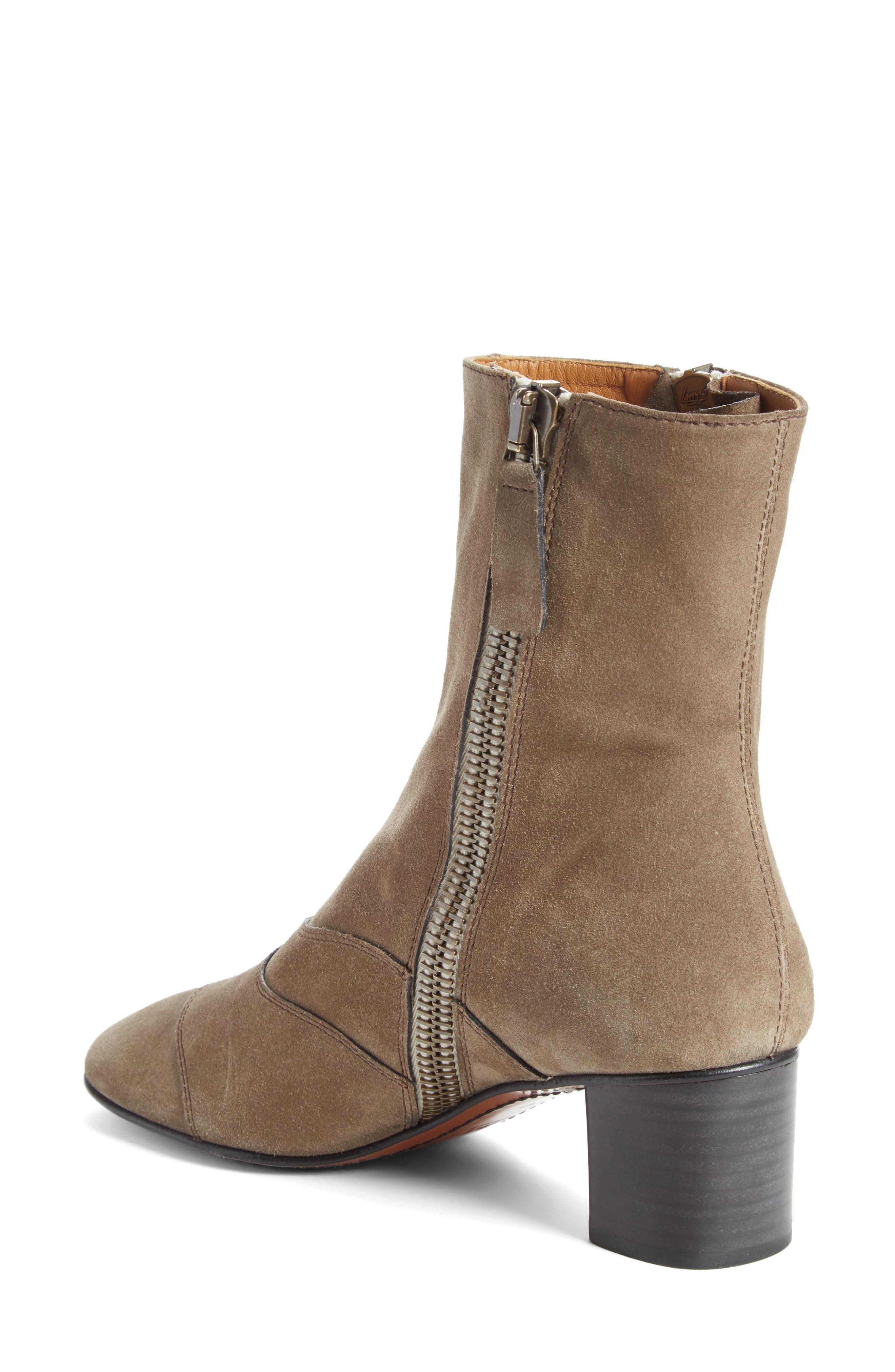 Lexie Block Heel Boot,                             Alternate thumbnail 2, color,                             Dark Greige
