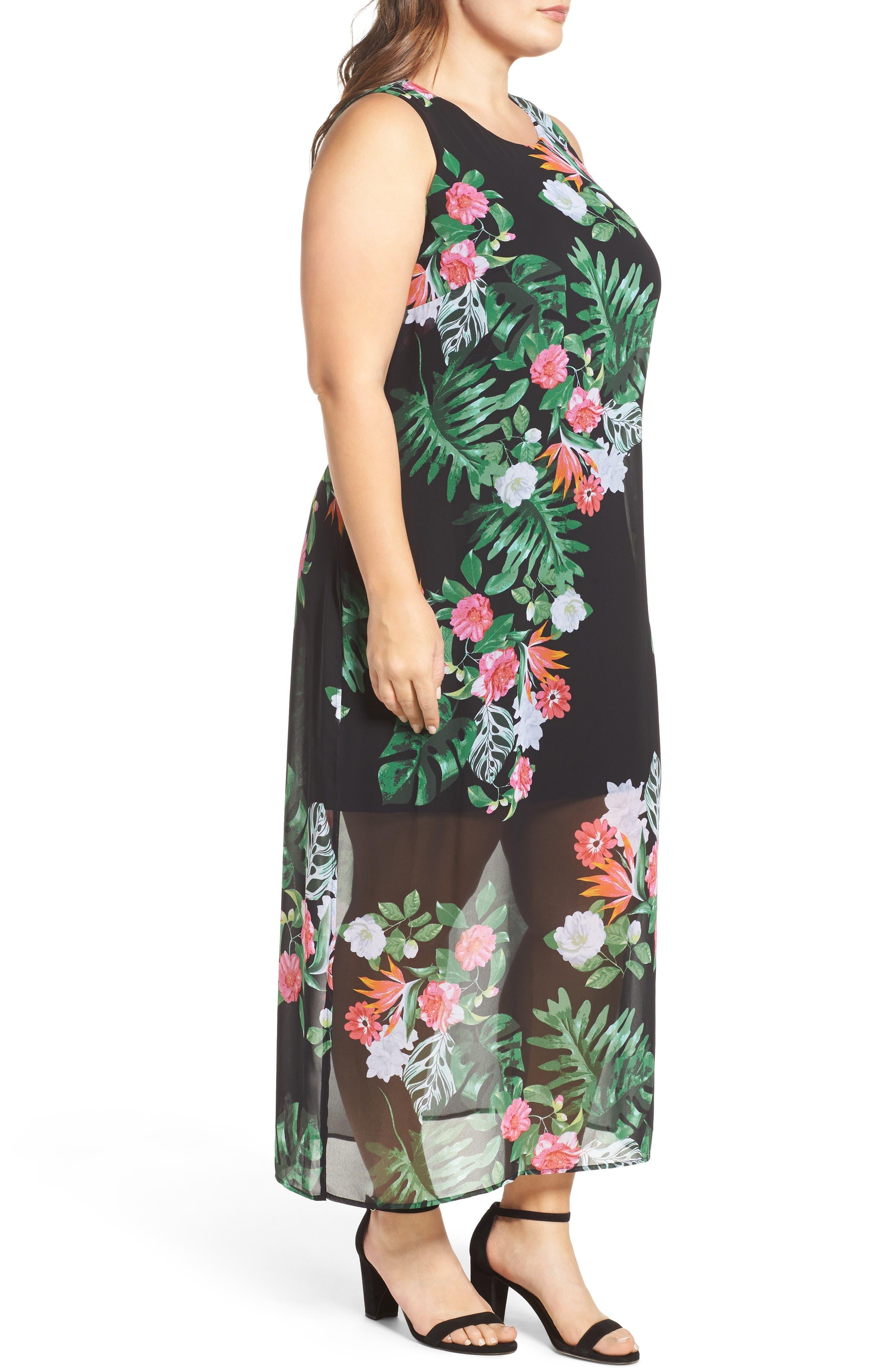 Alternate Image 4  - Vince Camuto Havana Tropical Maxi Dress (Plus Size)