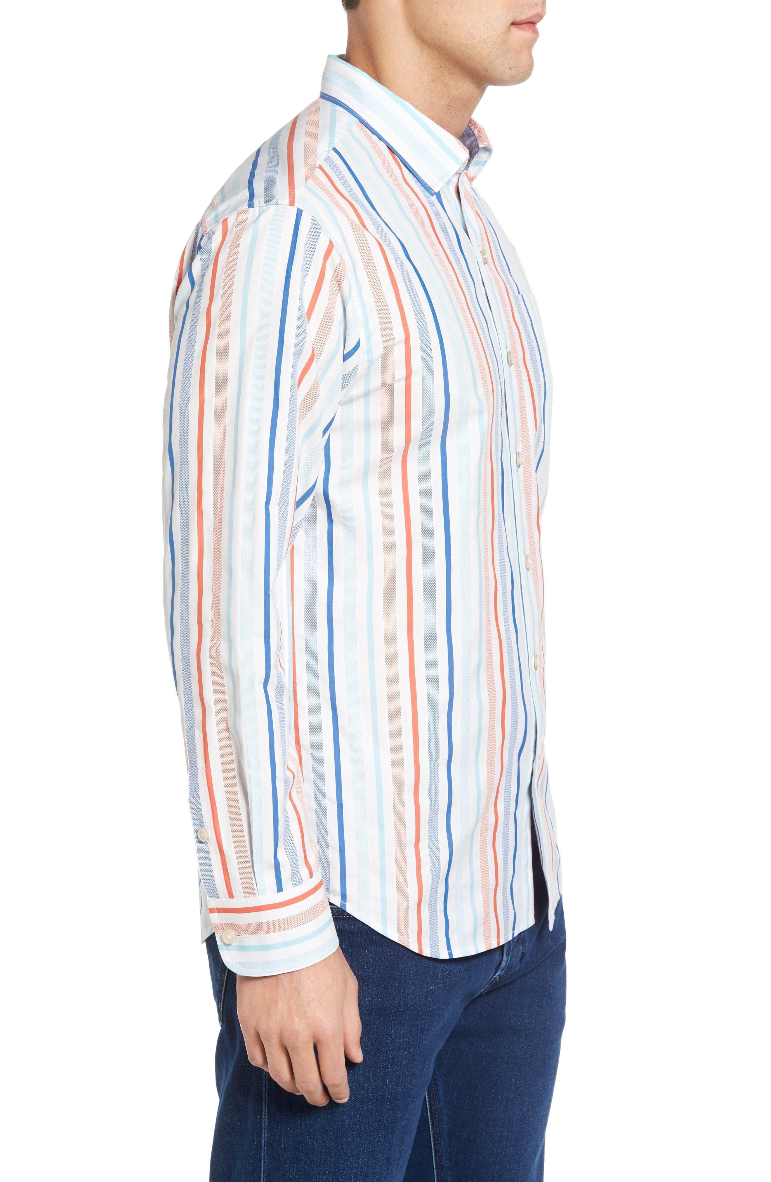 Alternate Image 3  - Tommy Bahama Demeter Stripe Sport Shirt