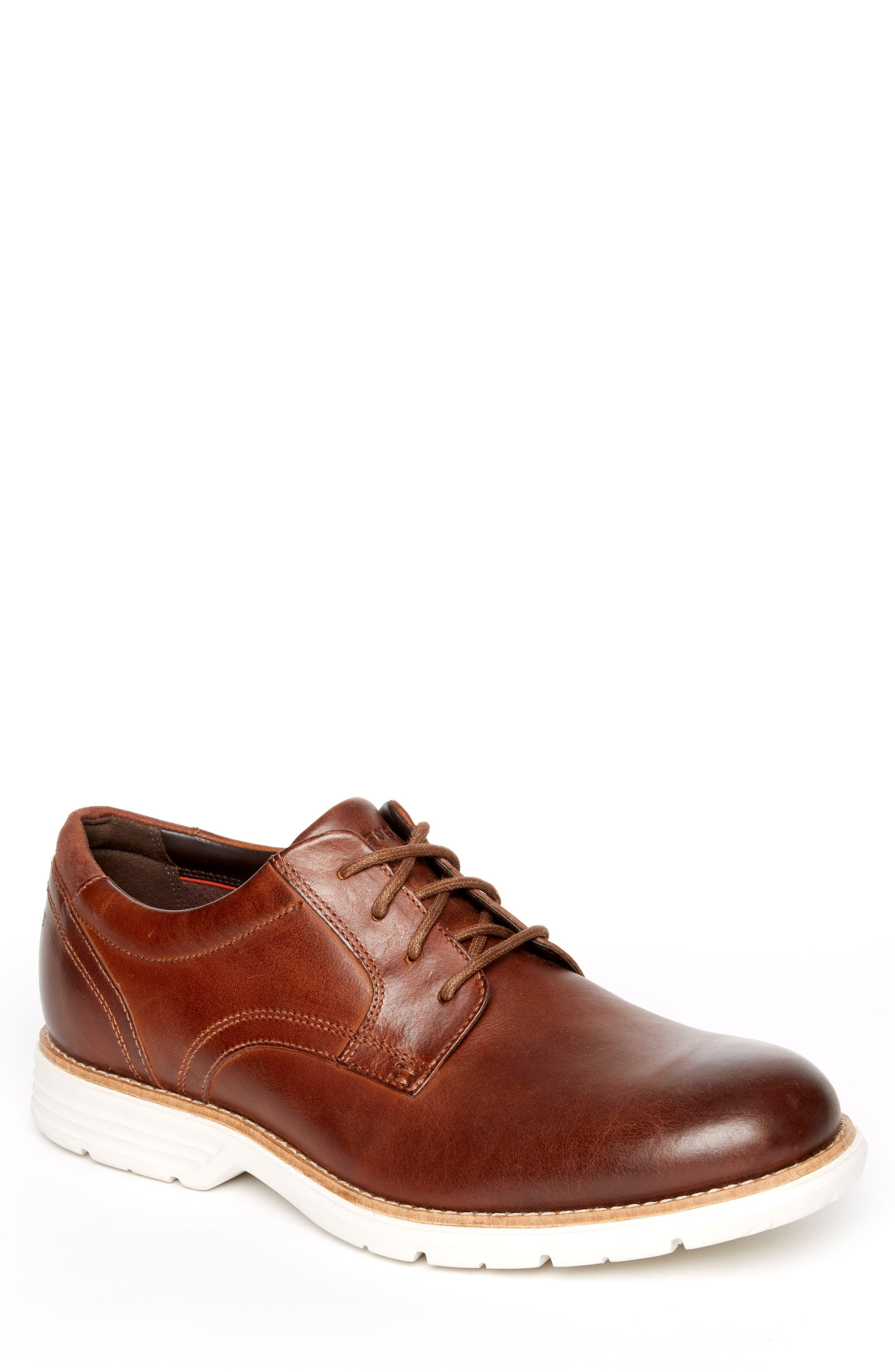 Total Motion Fusion Plain Toe Derby,                             Main thumbnail 1, color,                             New Carmel Leather