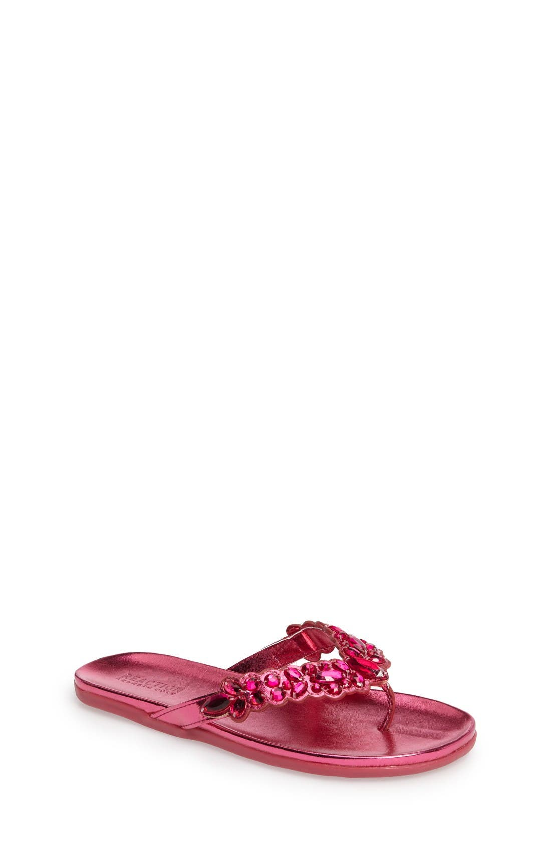 Slim Shadee Embellished Flip Flop,                         Main,                         color, Fuchsia
