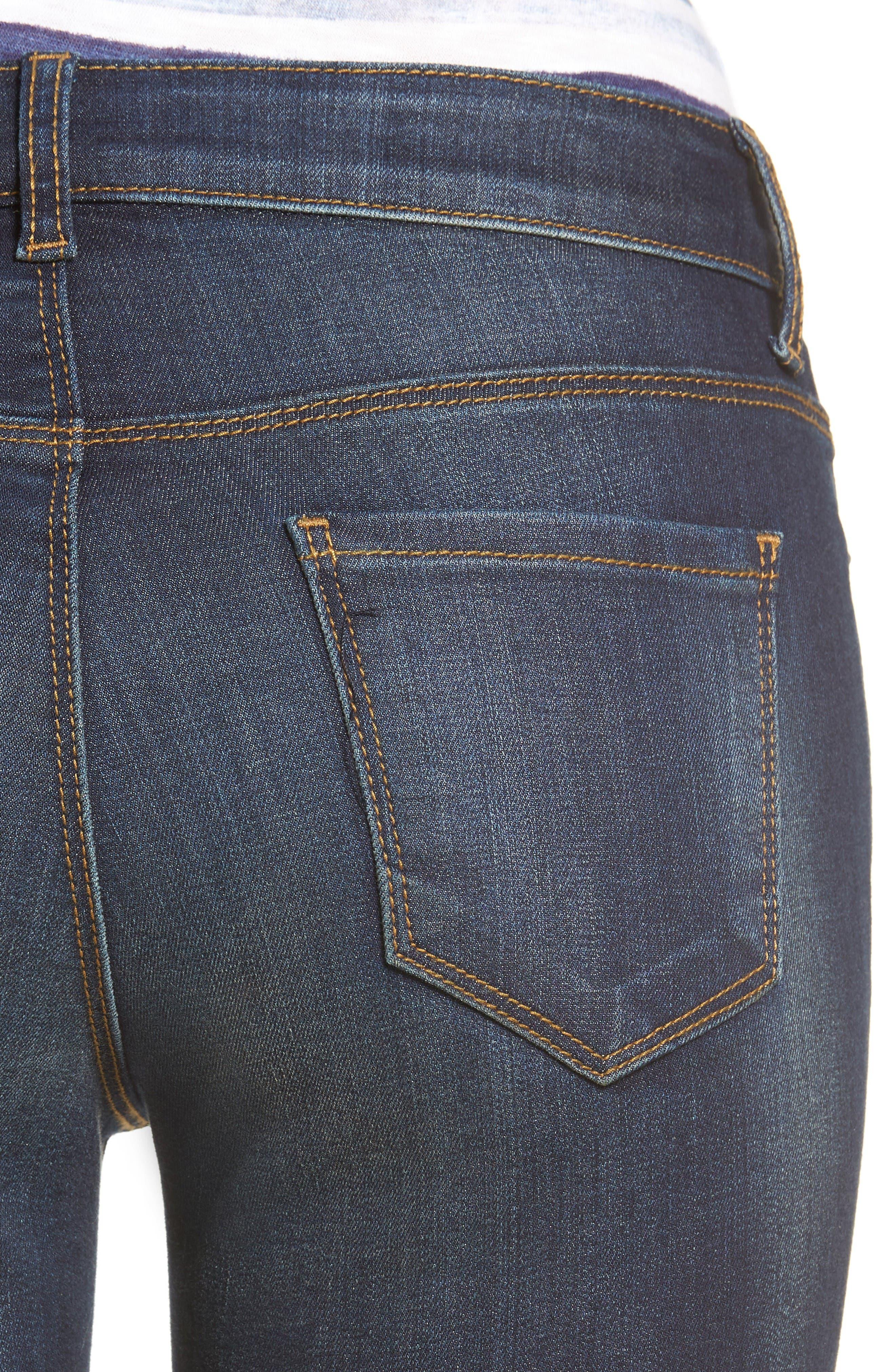 Alternate Image 4  - KUT from the Kloth Kurvy Ankle Skinny Jeans (Blinding)