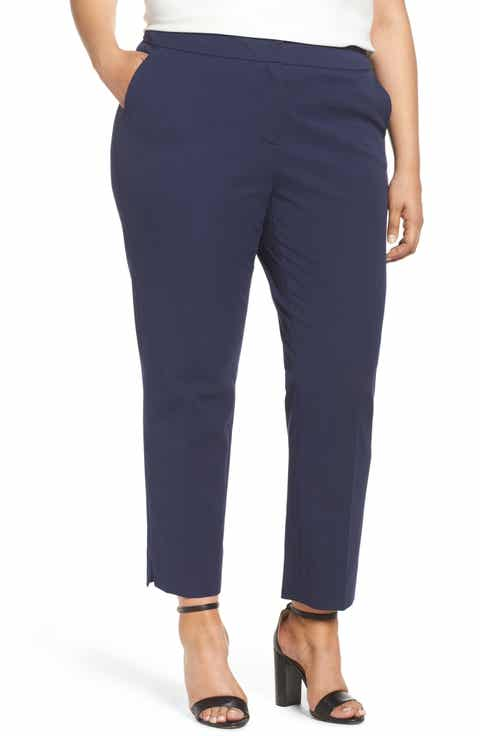 Sejour Straight Leg Ankle Pants (Plus Size) Compare Price