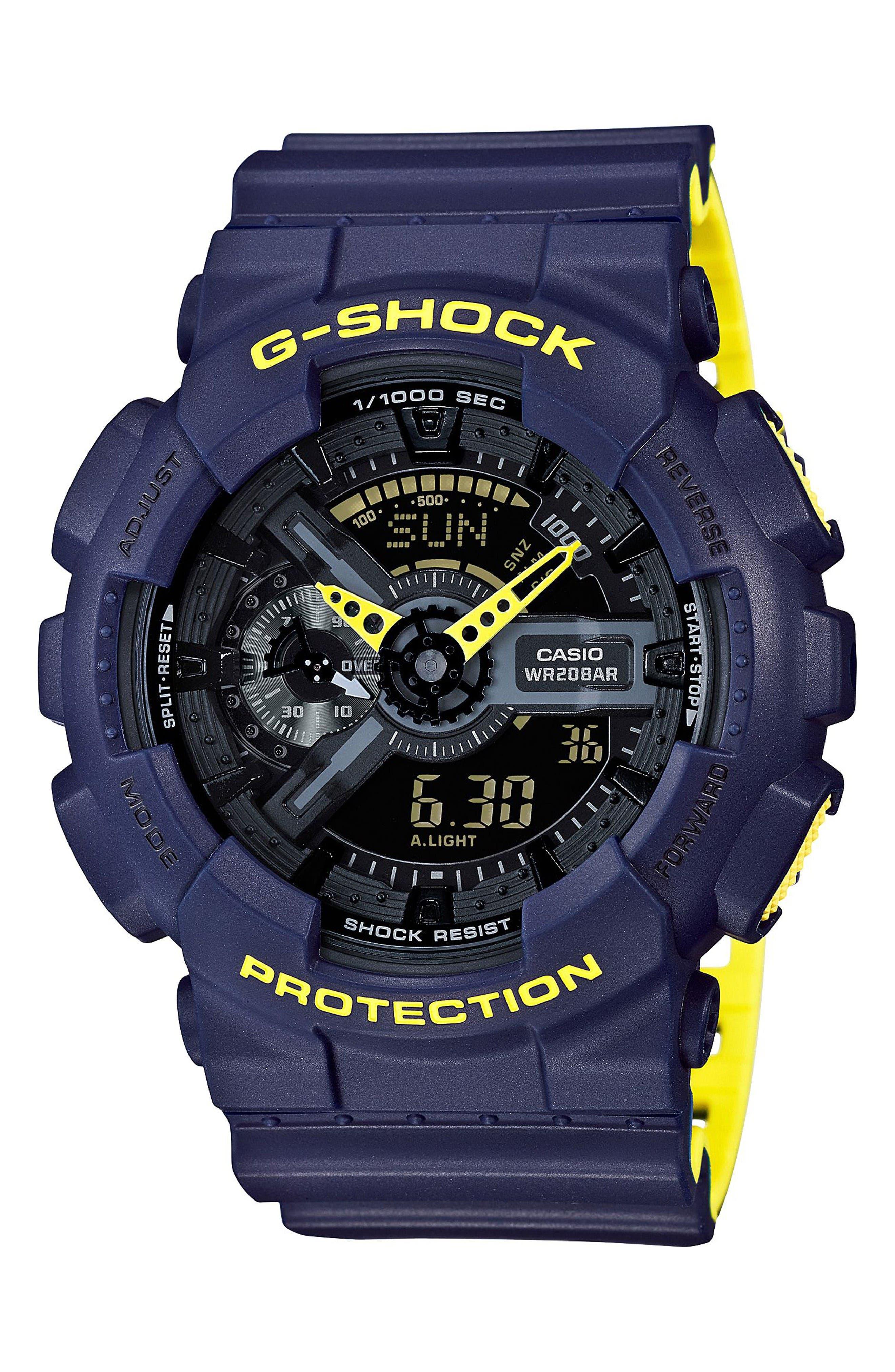 G-SHOCK BABY-G G-Shock GS Ana-Digi Layer Watch, 55mm