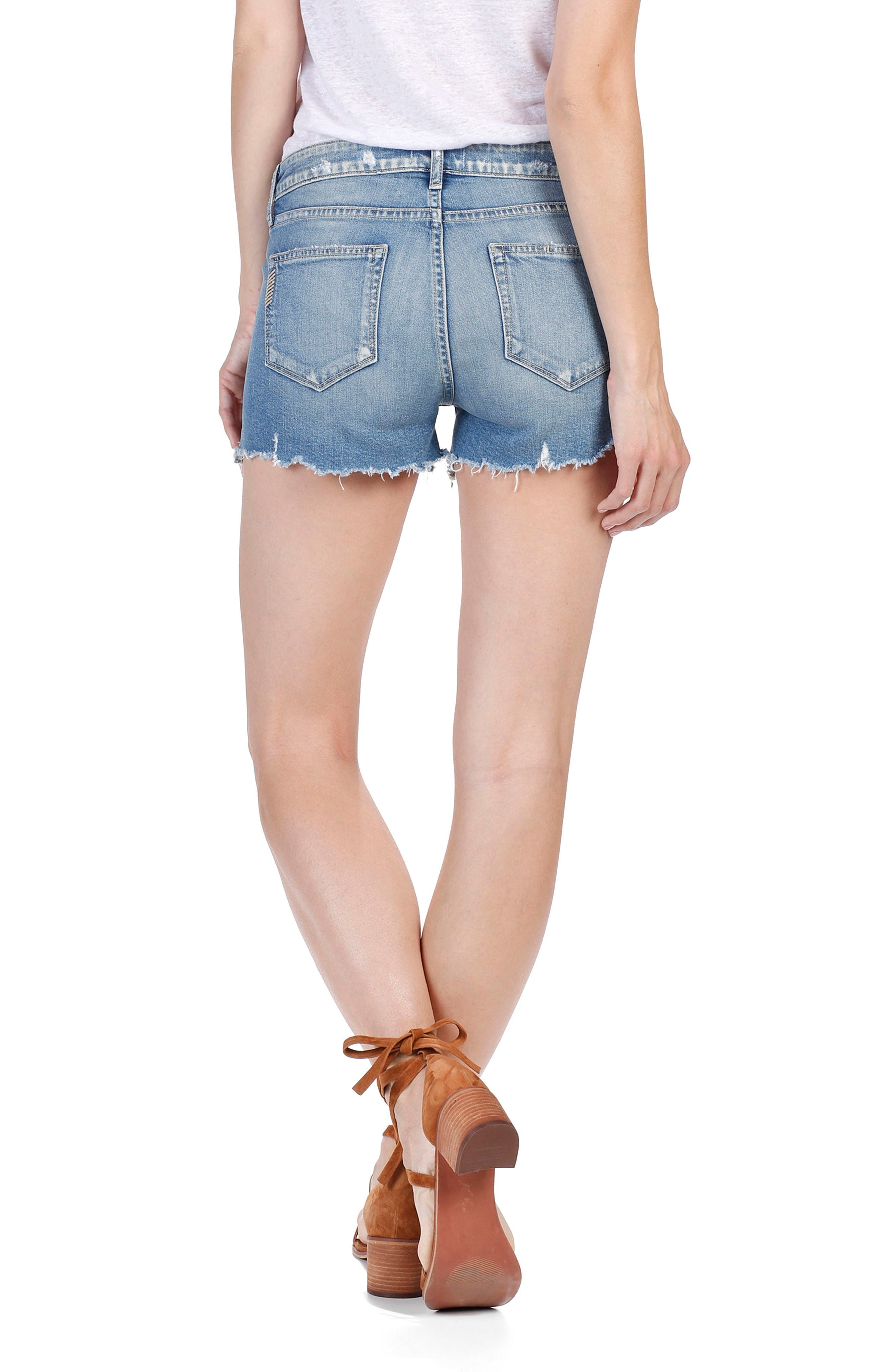 Alternate Image 3  - PAIGE Vera Cutoff Denim Shorts (Beacon)