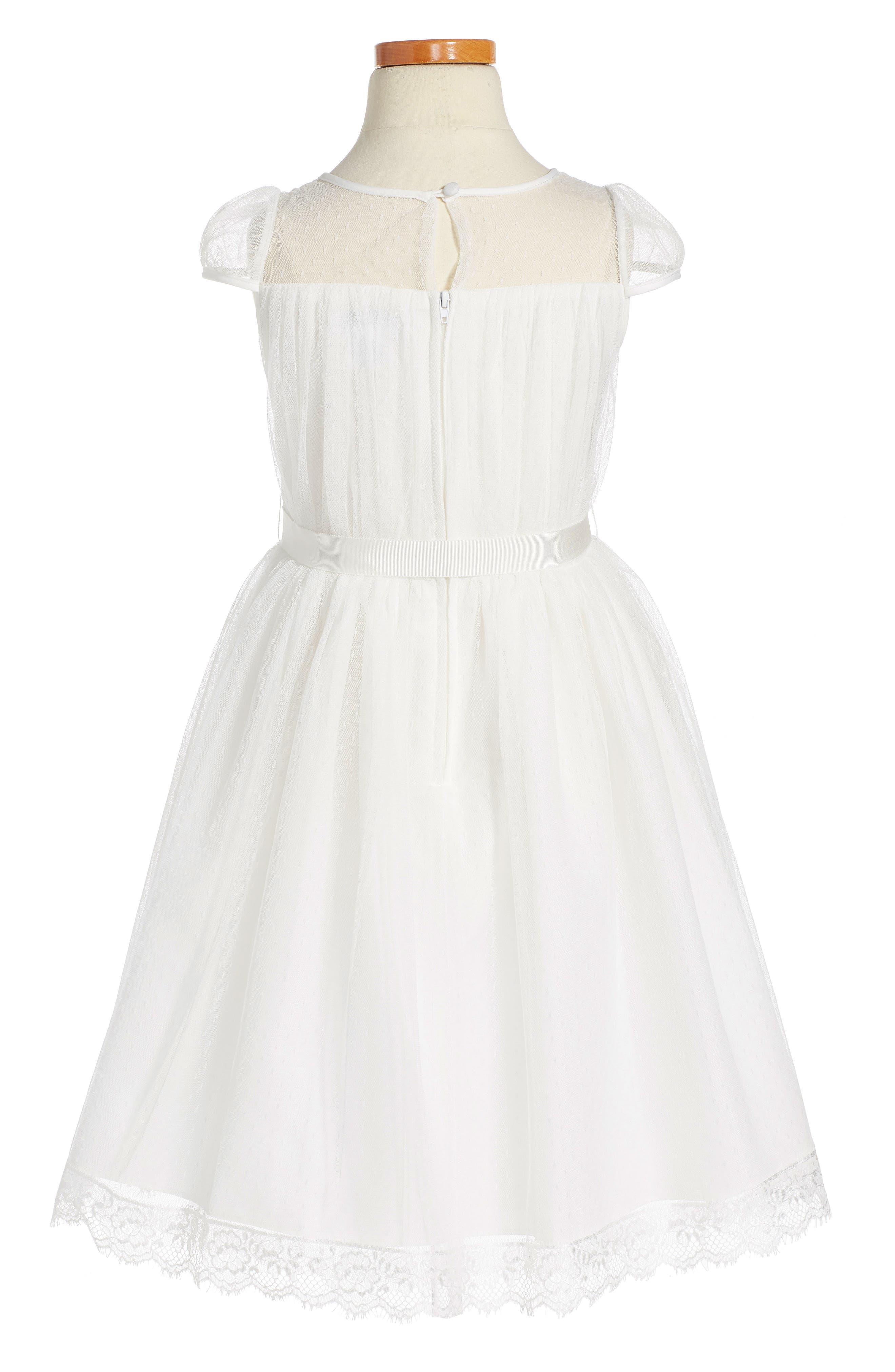 Alternate Image 2  - Us Angels Point d'Esprit Dress (Toddler Girls, Little Girls & Big Girls)