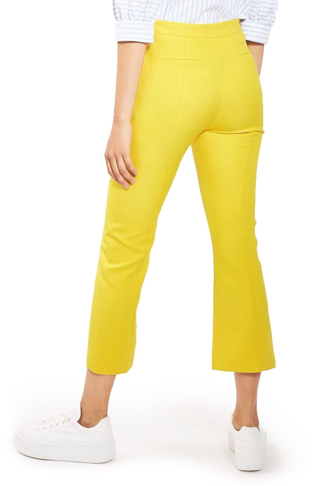 Alternate Image 3  - Topshop Crop Kick Flare Trousers