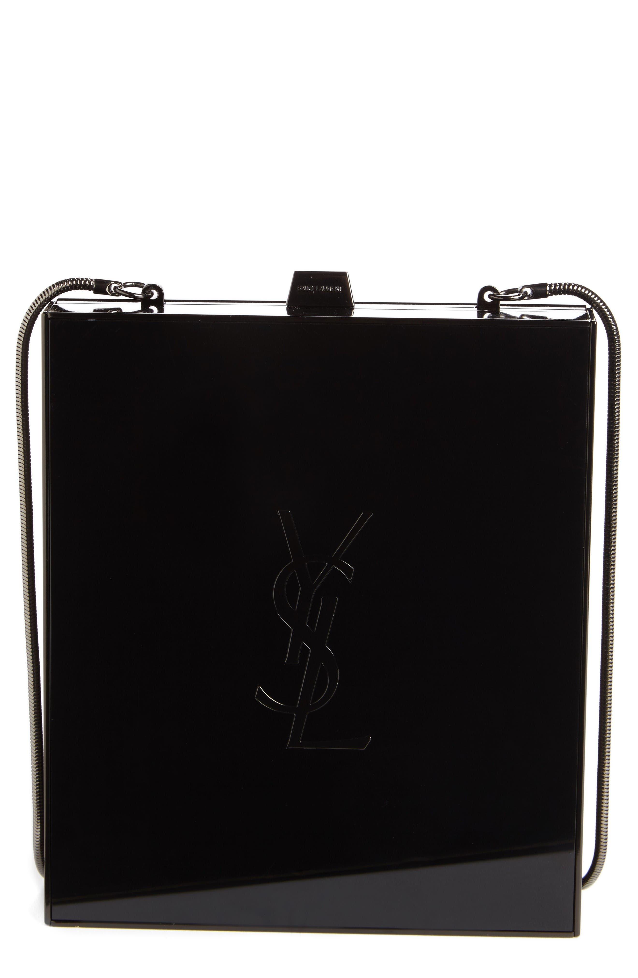 Saint Laurent Tuxedo Plexiglass Clutch
