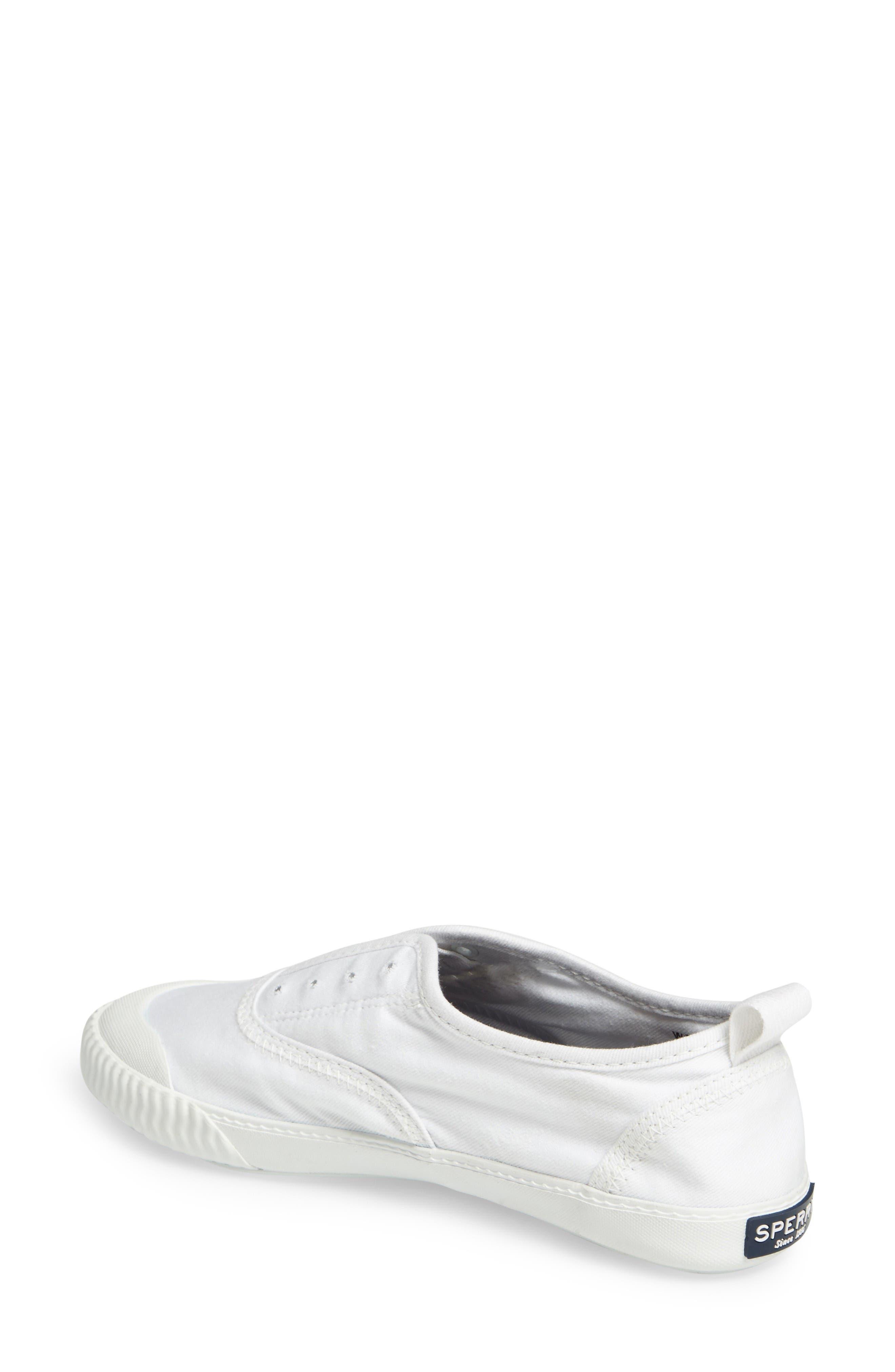 Sayel Slip-On Sneaker,                             Alternate thumbnail 2, color,                             White Fabric