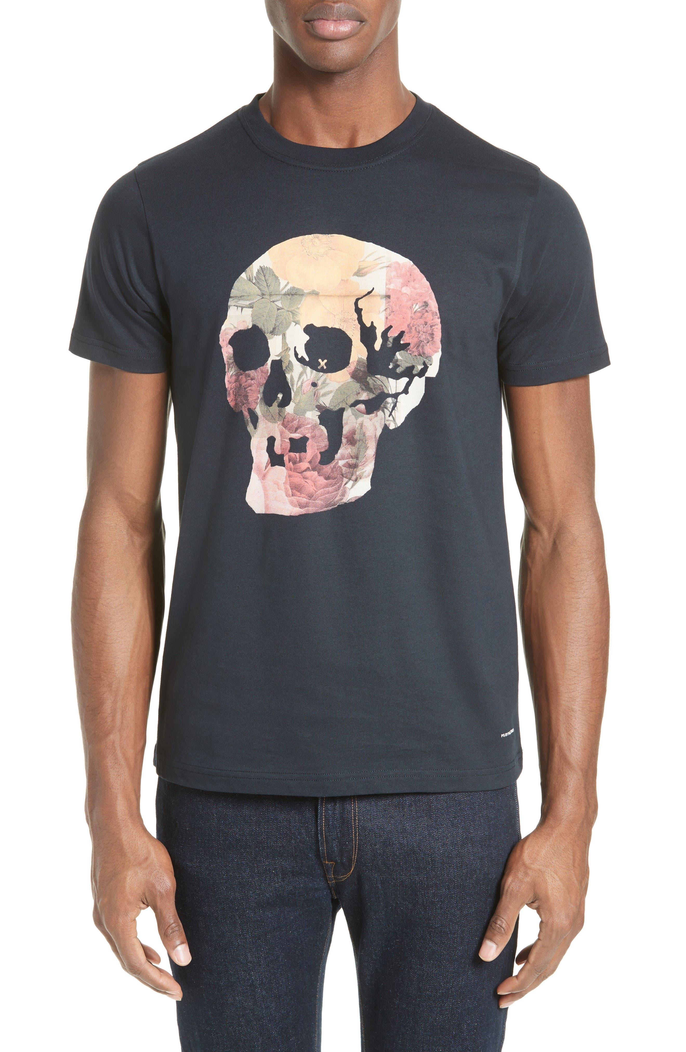 Alternate Image 1 Selected - PS Paul Smith Skull Print T-Shirt