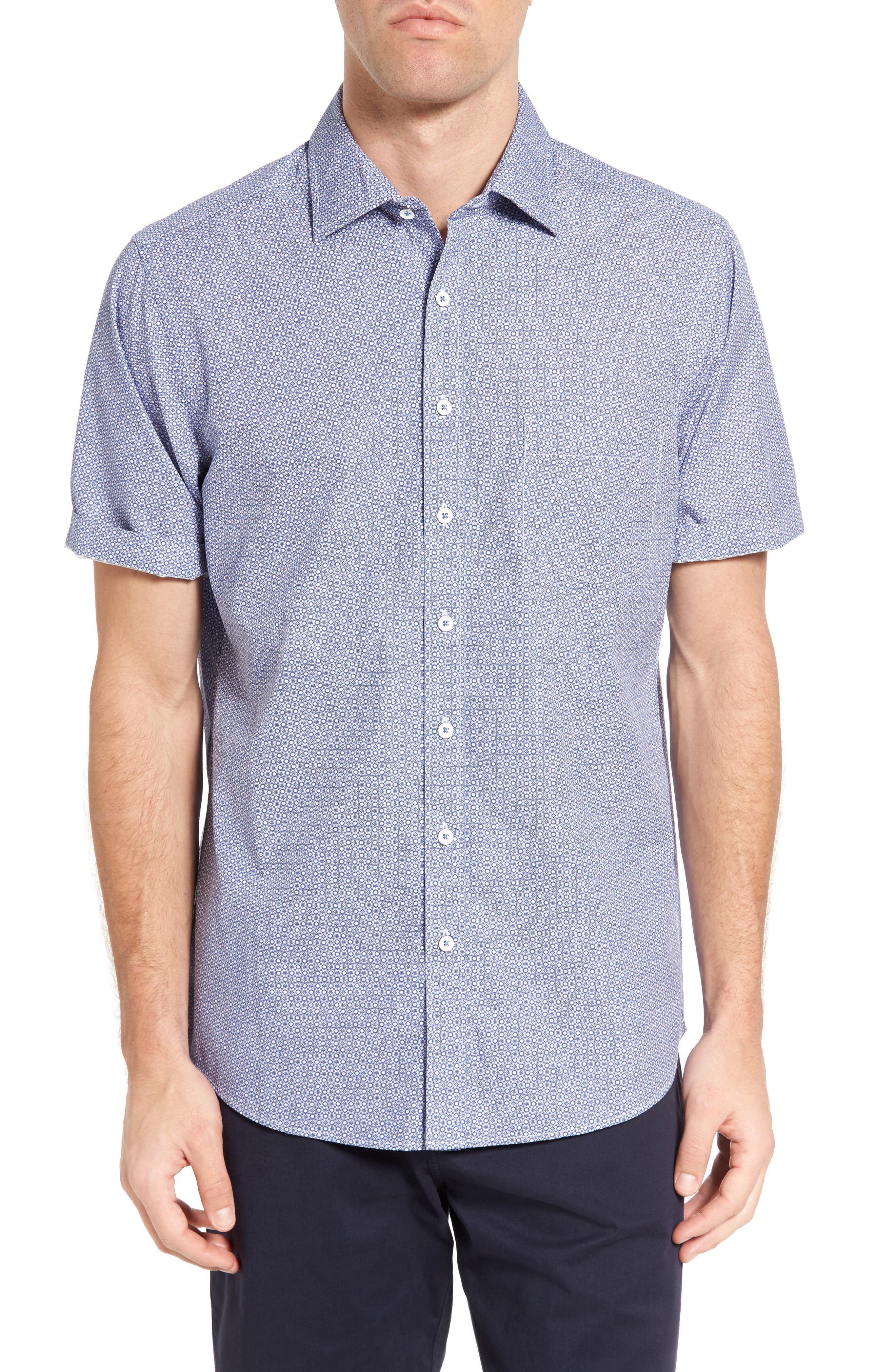 RODD & GUNN Sullivan Regular Fit Print Sport Shirt