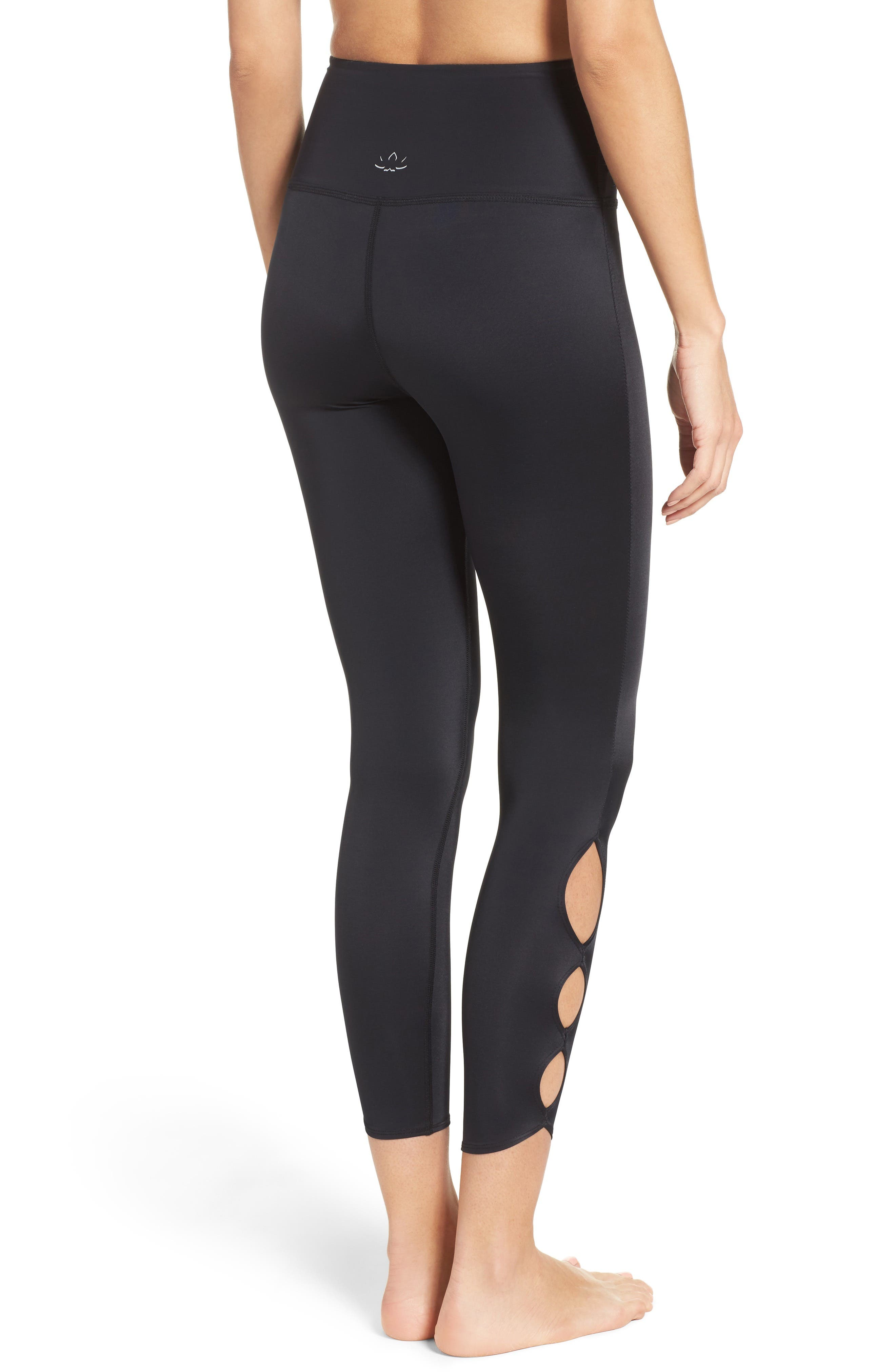Alternate Image 2  - Beyond Yoga Compression Lux High Waist Half Moon Crop Leggings