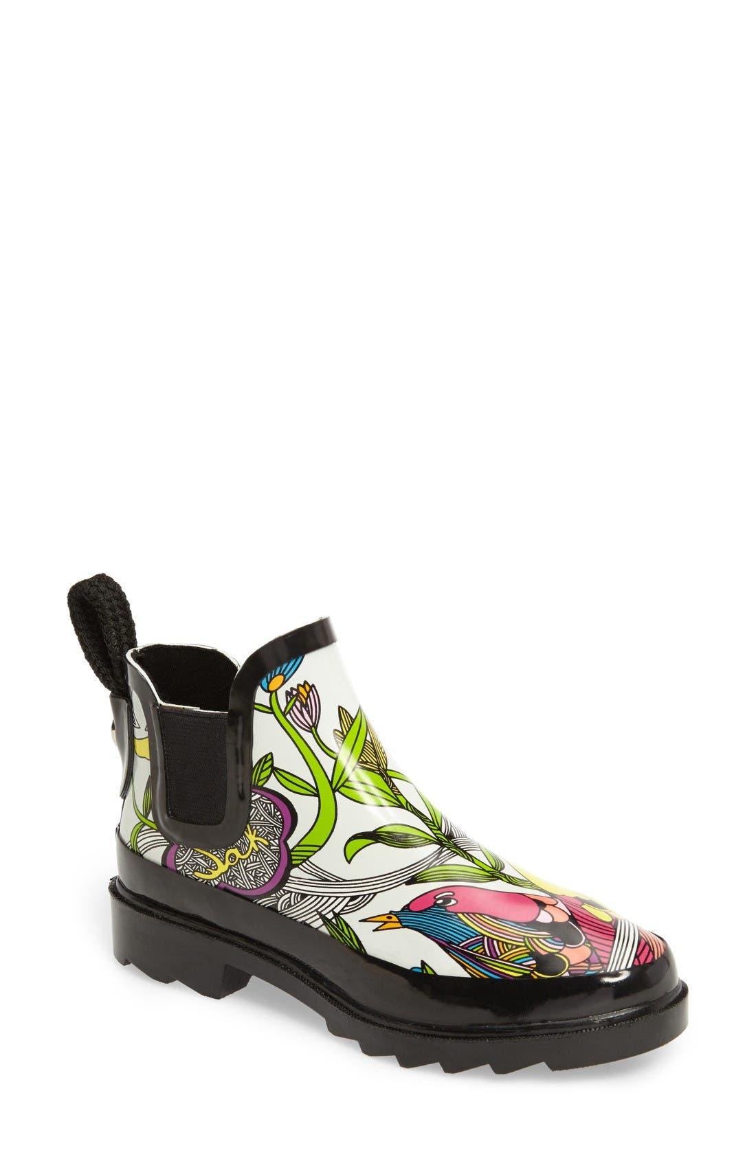 Sakroots 'Rhyme' Waterproof Rain Boot (Women)