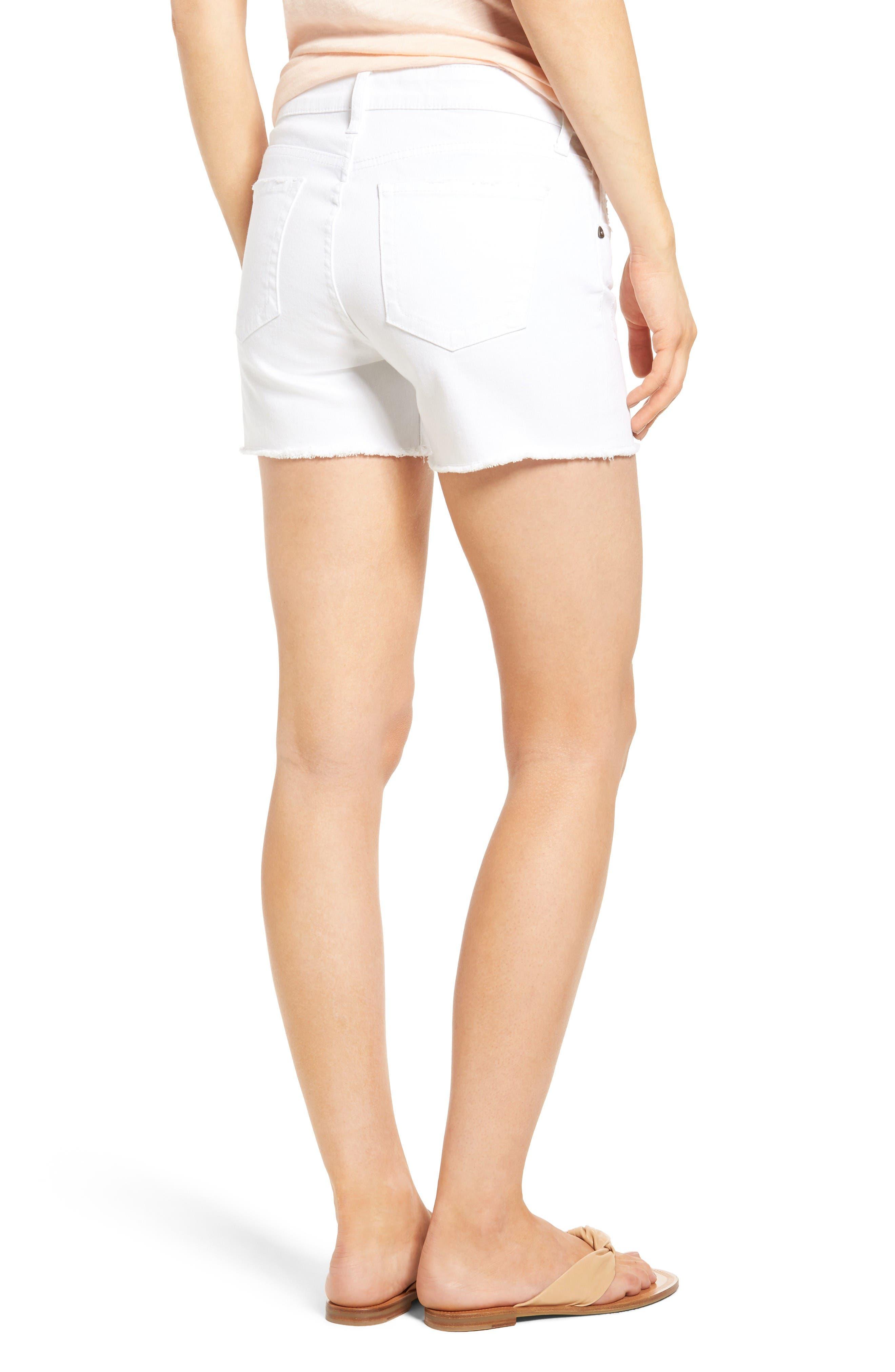 Alternate Image 2  - KUT from the Kloth Gidget Denim Shorts (Optic White)