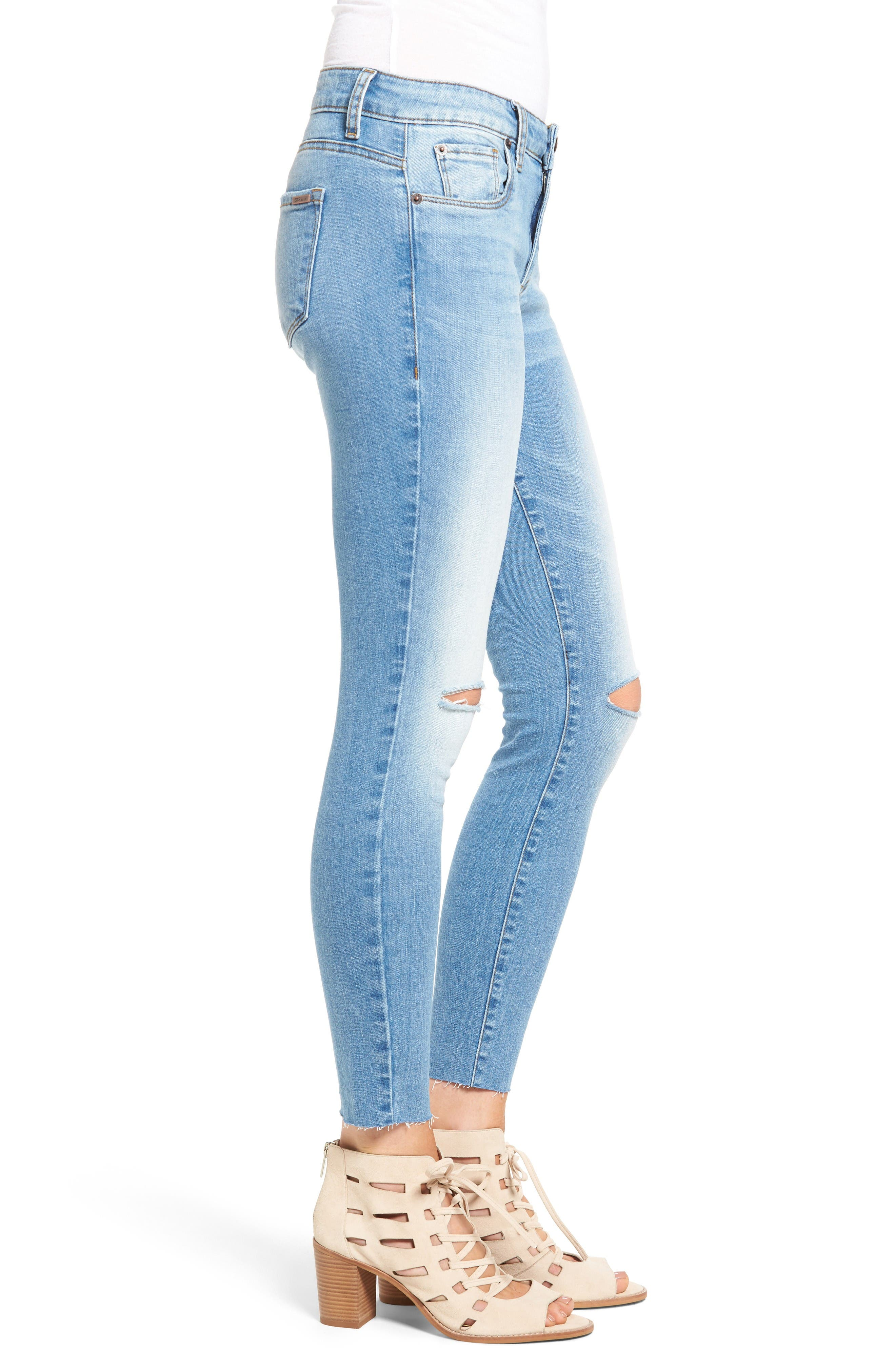 Alternate Image 3  - STS Blue Emma Ripped Crop Skinny Jeans (Mount Tallac)