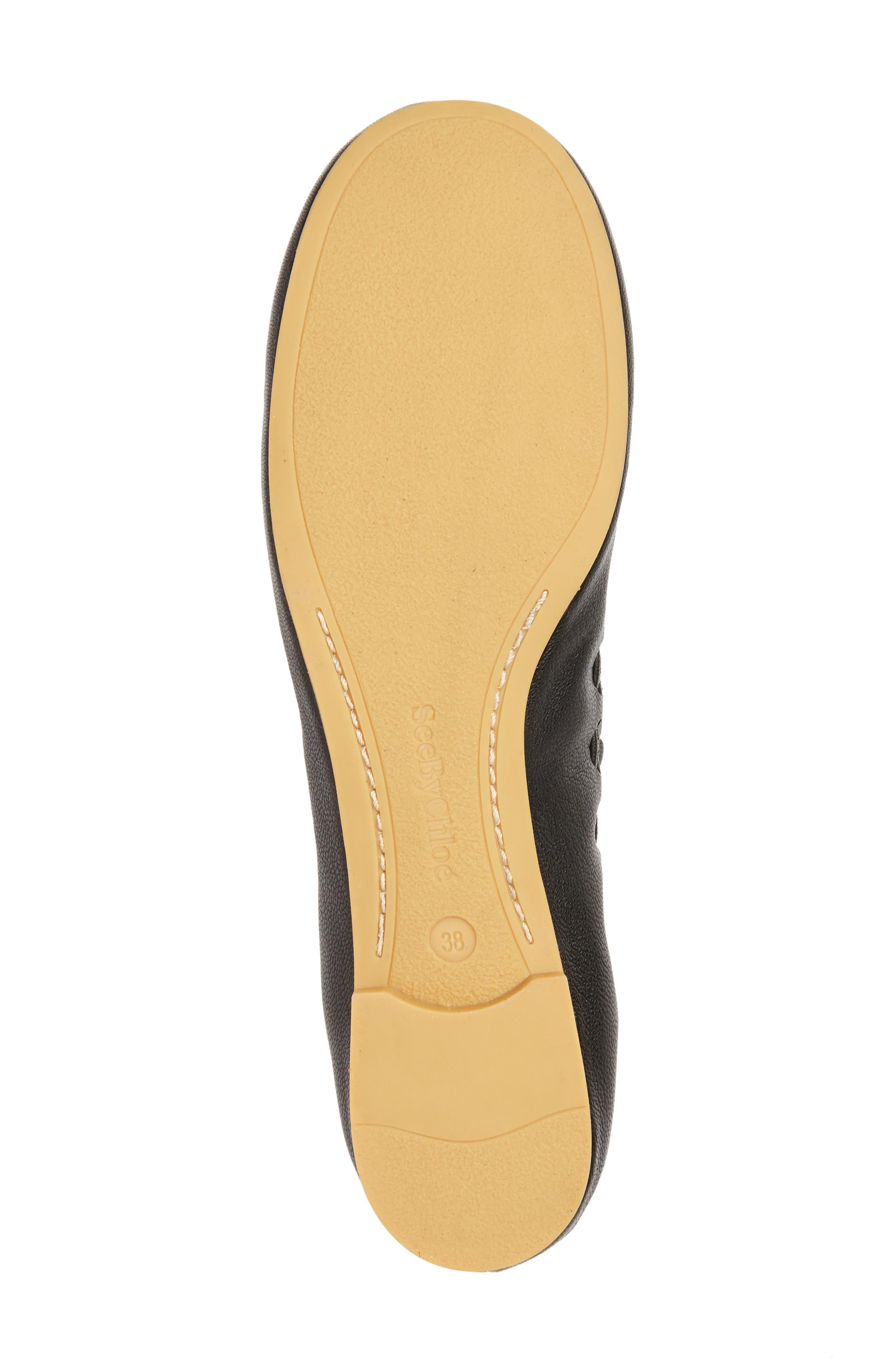 'Jane' Ballerina Flat,                             Alternate thumbnail 6, color,                             Black/ Goat Leather