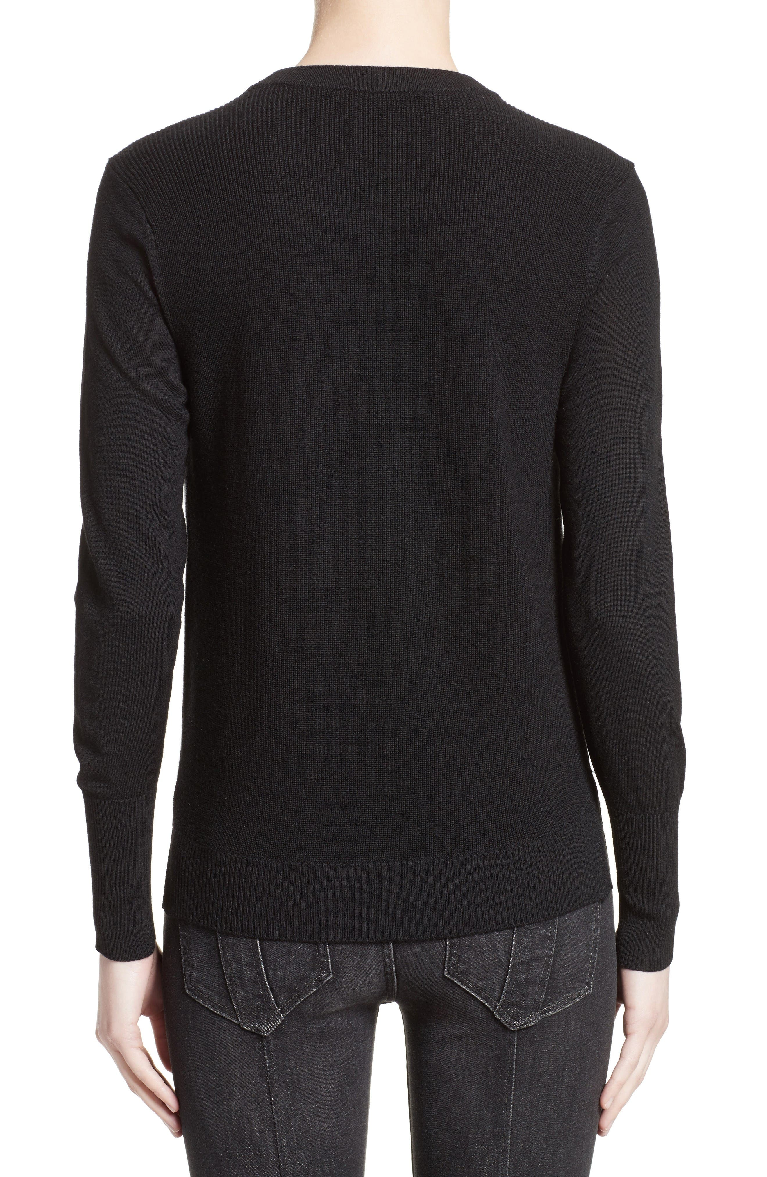 Alternate Image 2  - Burberry Meigan Merino Wool Sweater