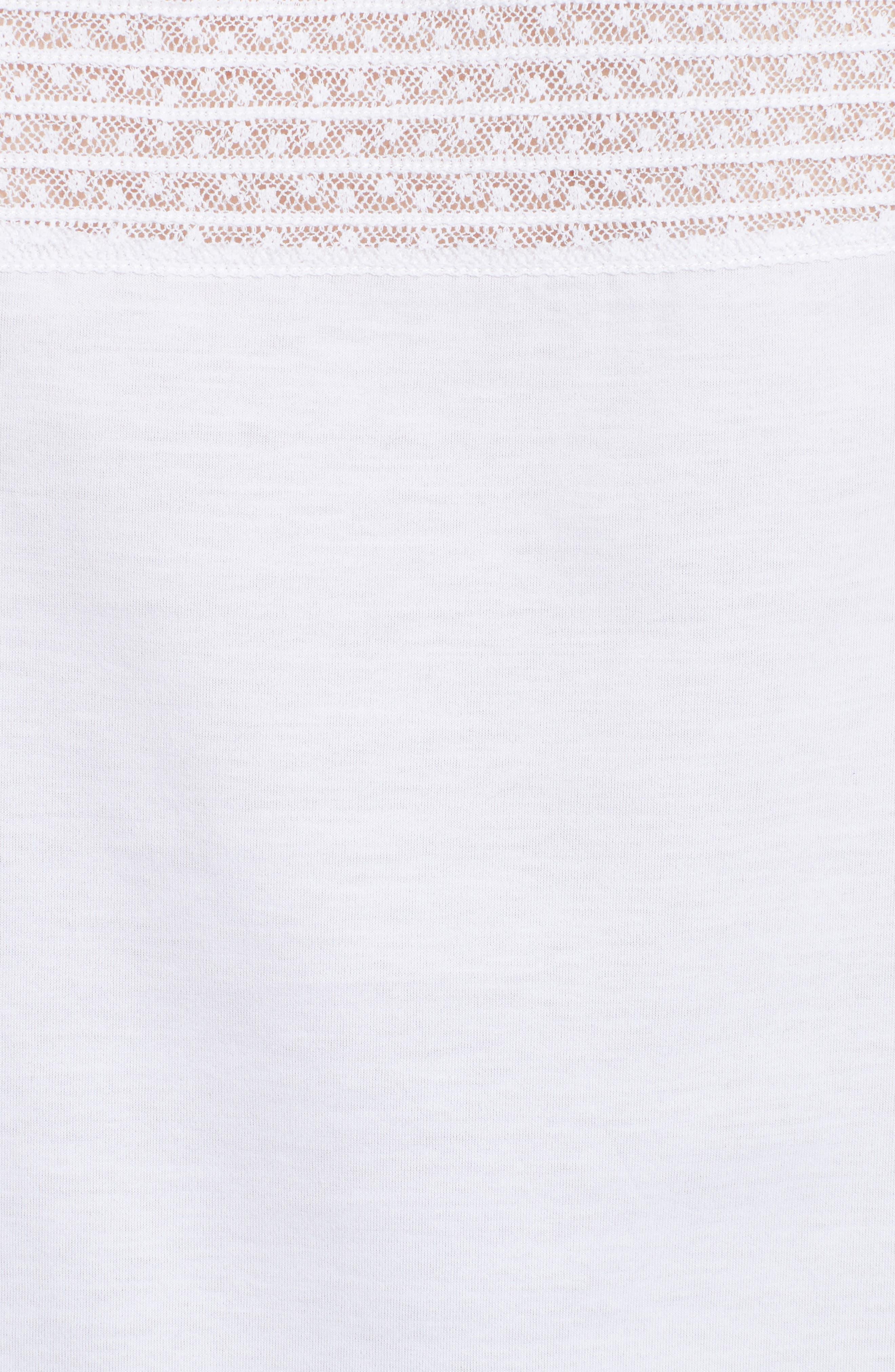 Alternate Image 3  - Burberry Piero Lace Yoke Top