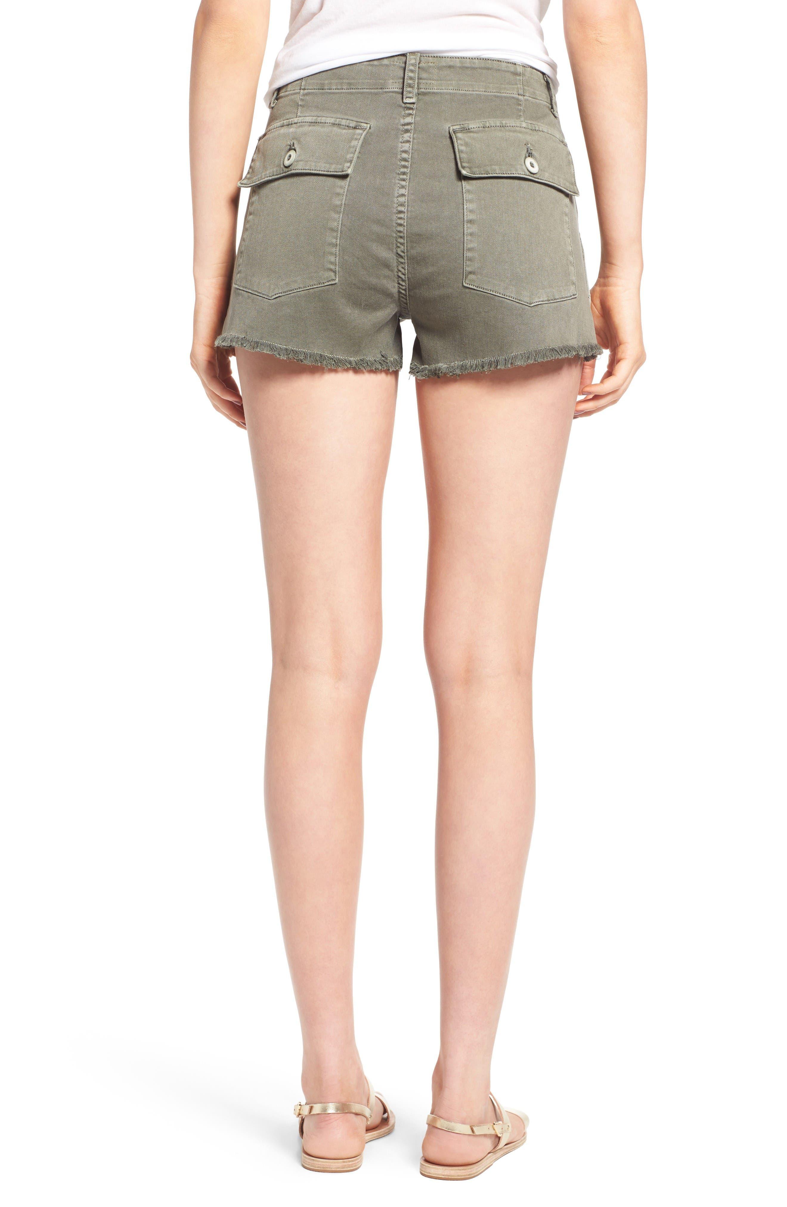 Alternate Image 2  - Hudson Jeans MKA Military High Waist Shorts