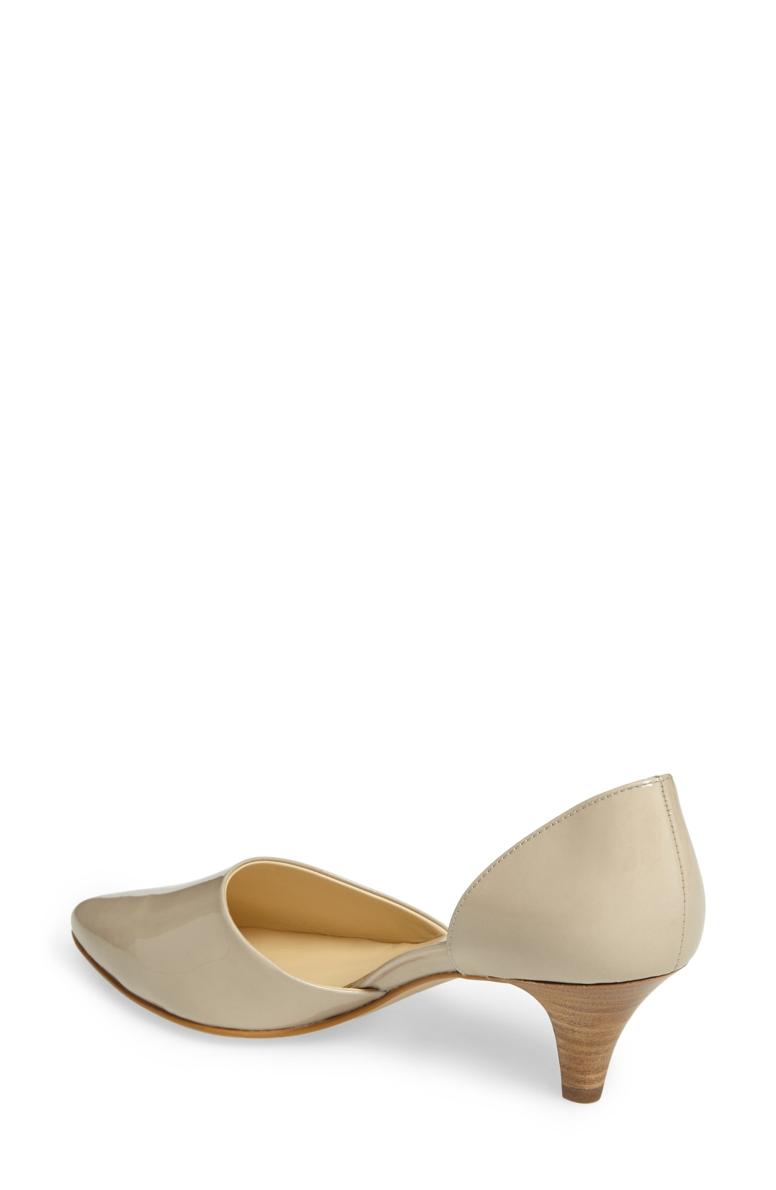 'Julia' d'Orsay Pump,                             Alternate thumbnail 2, color,                             Taupe Patent