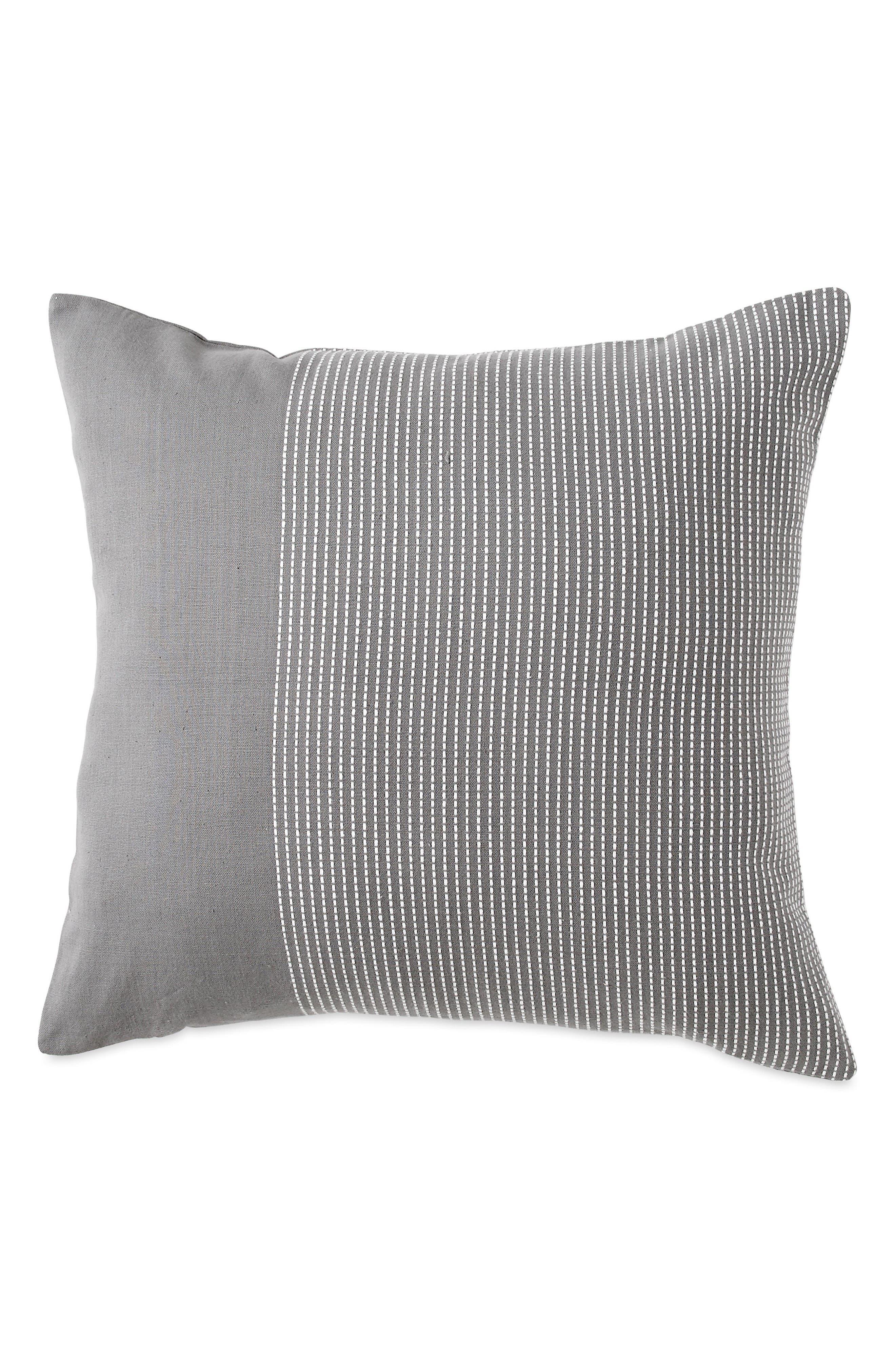Stripe Accent Pillow,                         Main,                         color, Grey