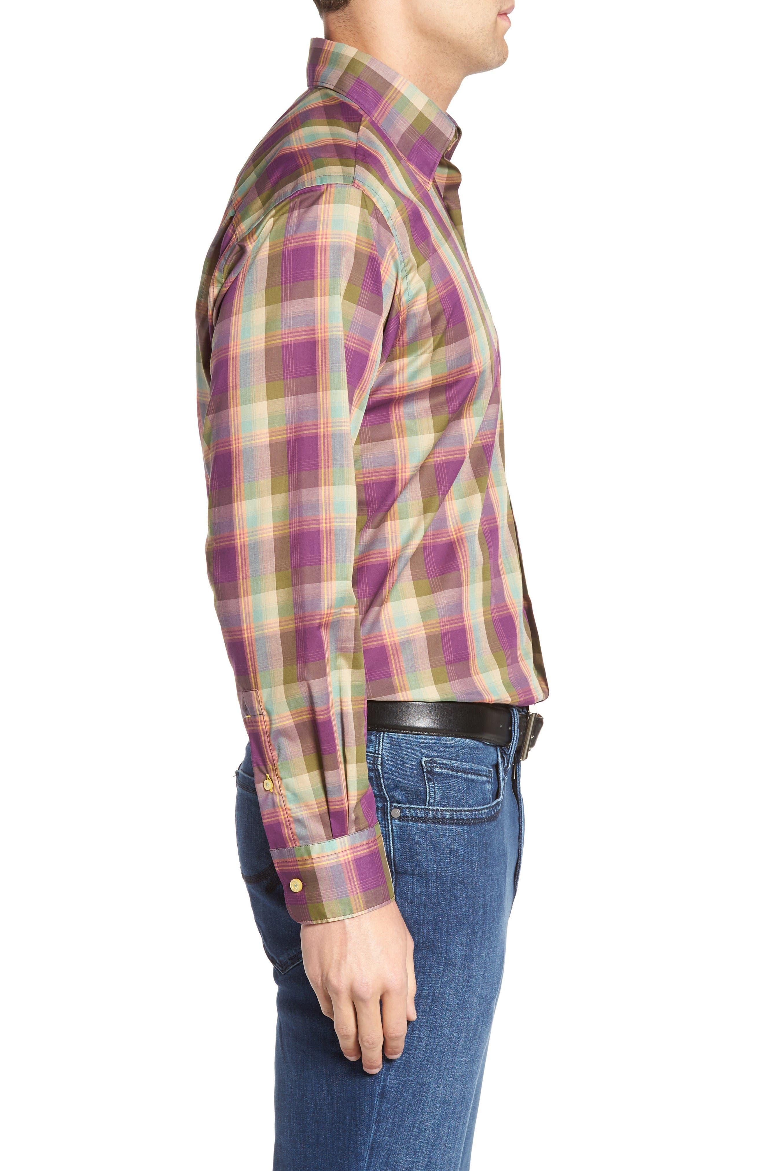 Alternate Image 3  - Robert Talbott Anderson Classic Fit Plaid Sport Shirt