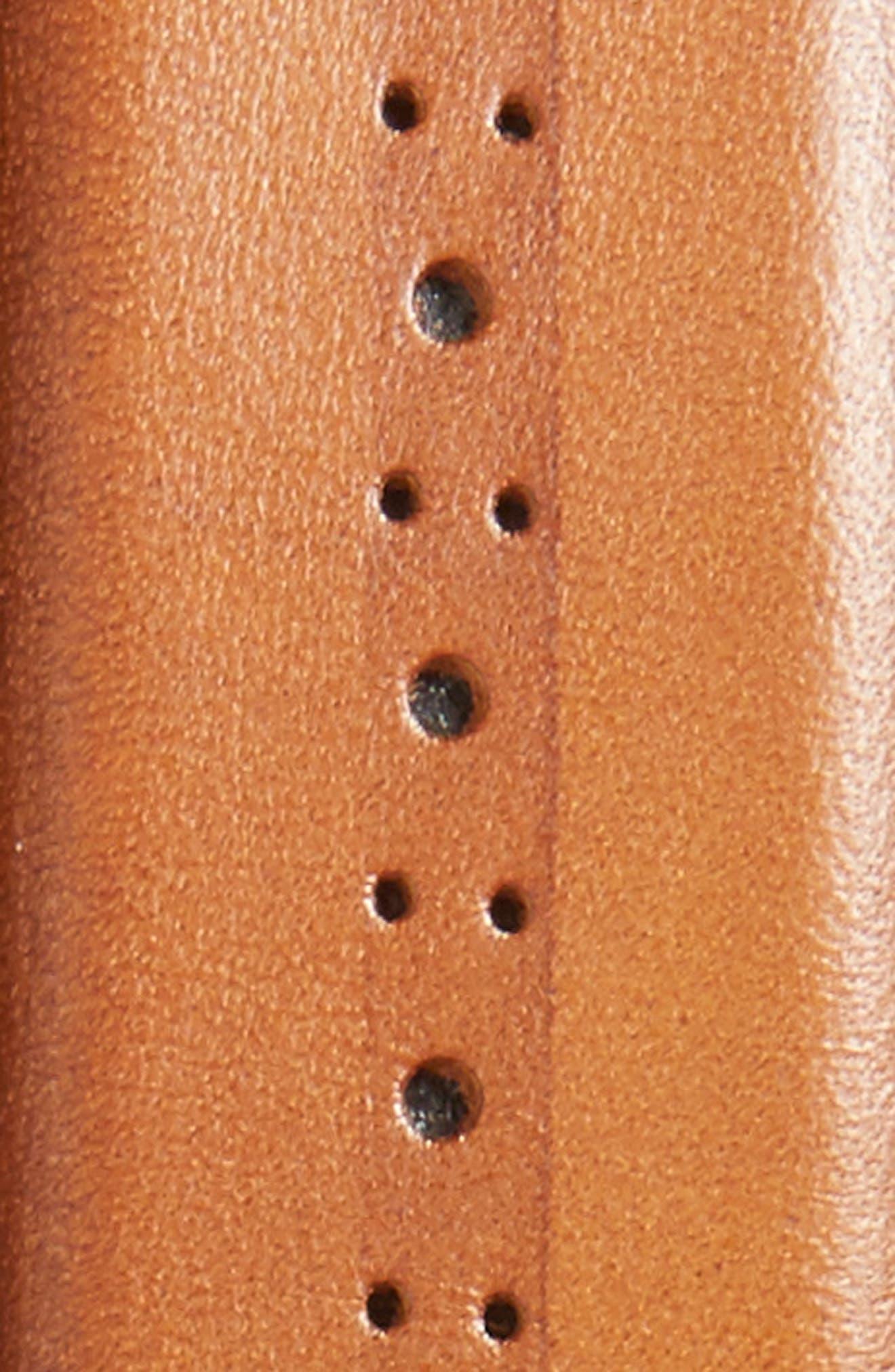 Eastwick Leather Belt,                             Alternate thumbnail 2, color,                             Cognac
